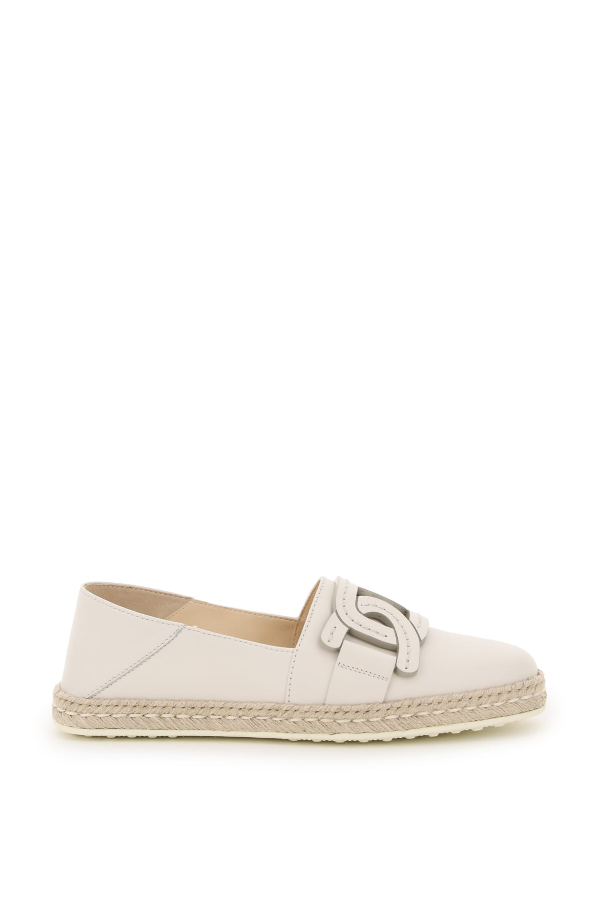 Tods Leather Espadrilles Chain