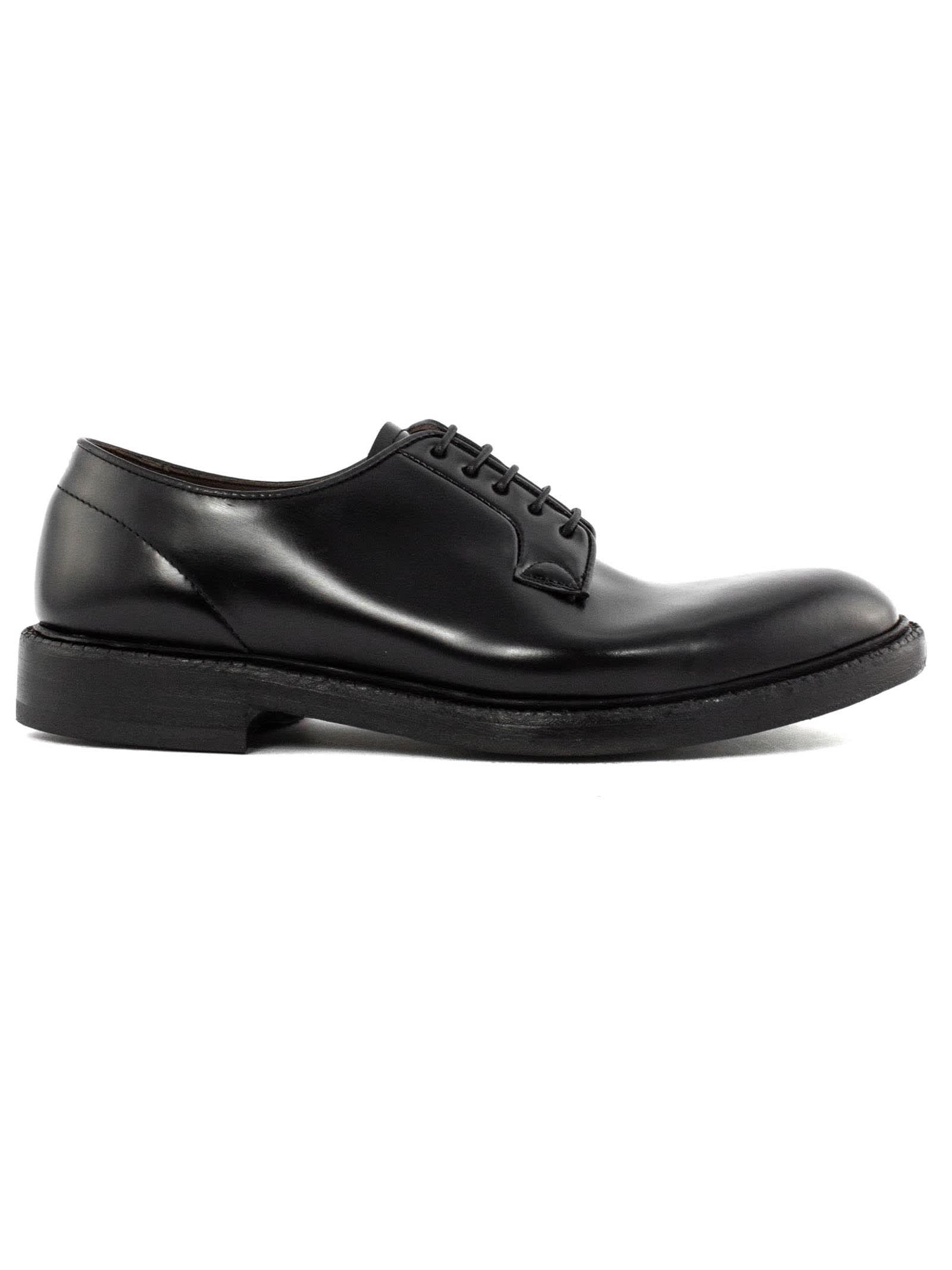 Lace-up In Black Bull Leather