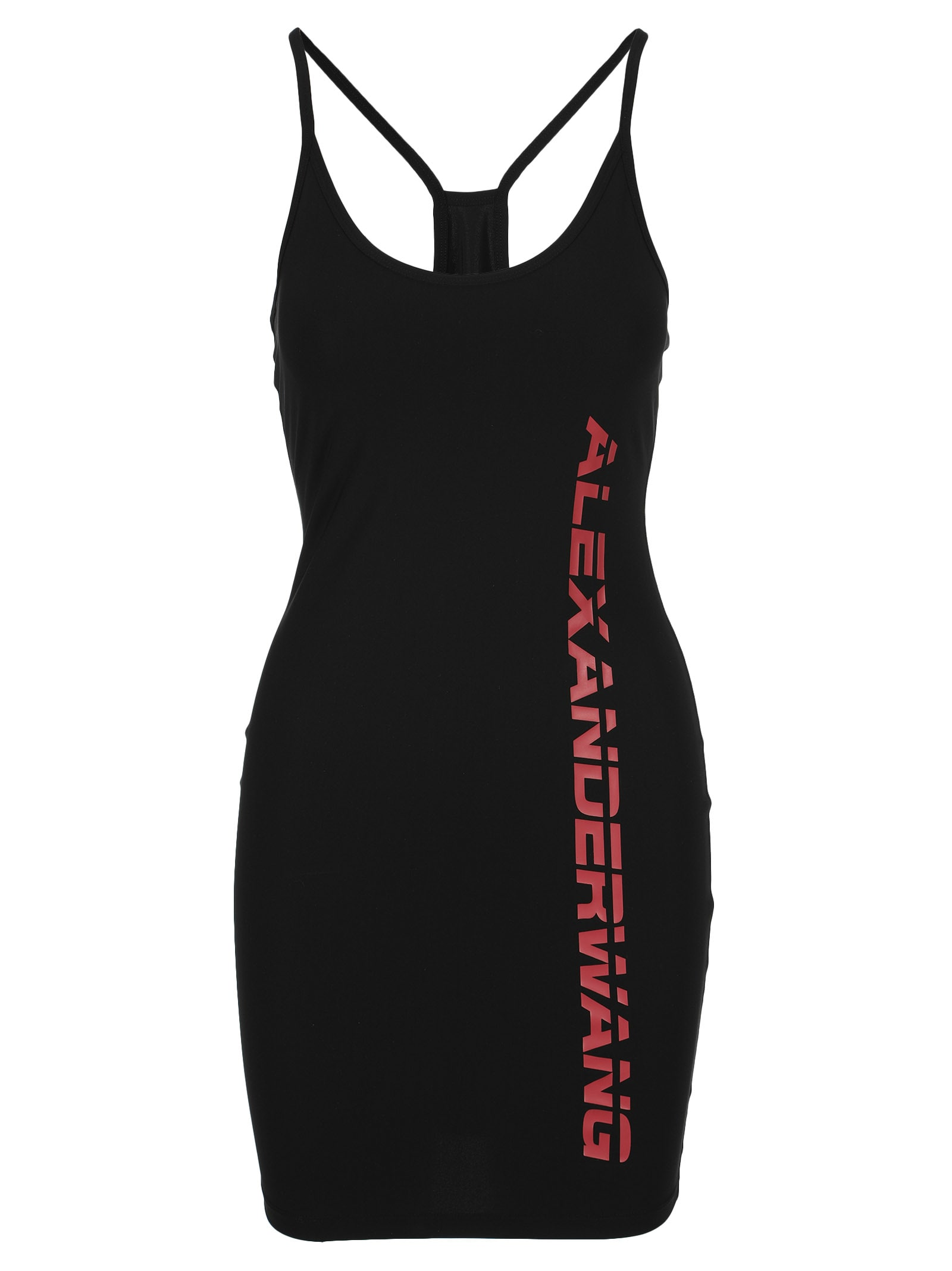 T By Alexander Wang Logo Print Dress