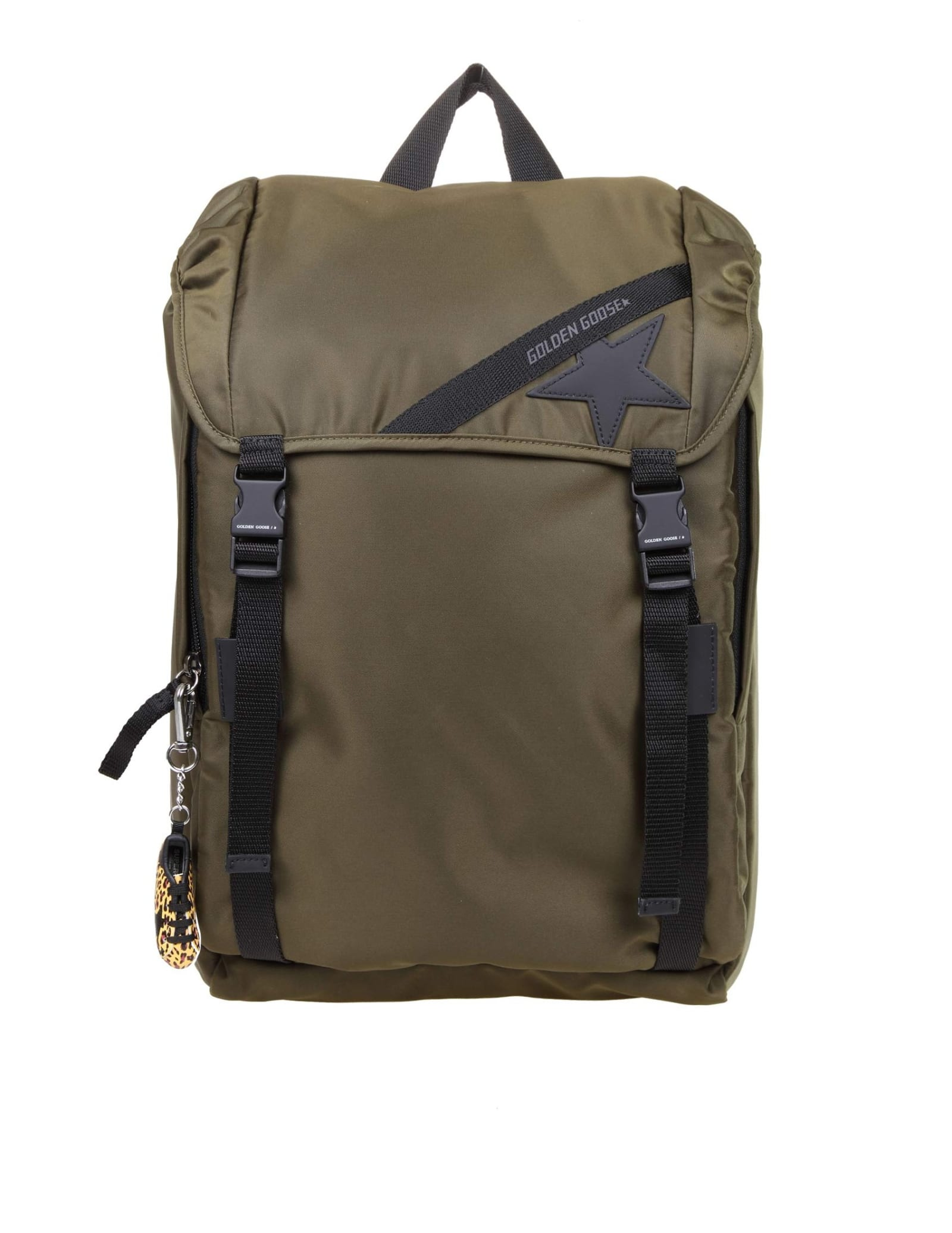 Golden Goose JOURNEY BACKPACK IN MILITARY GREEN TECHNICAL FABRIC
