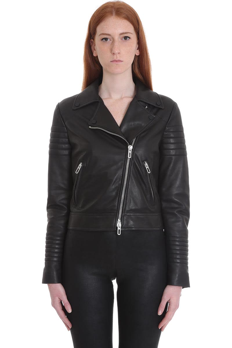 DROMe Leather Jacket In Black Leather