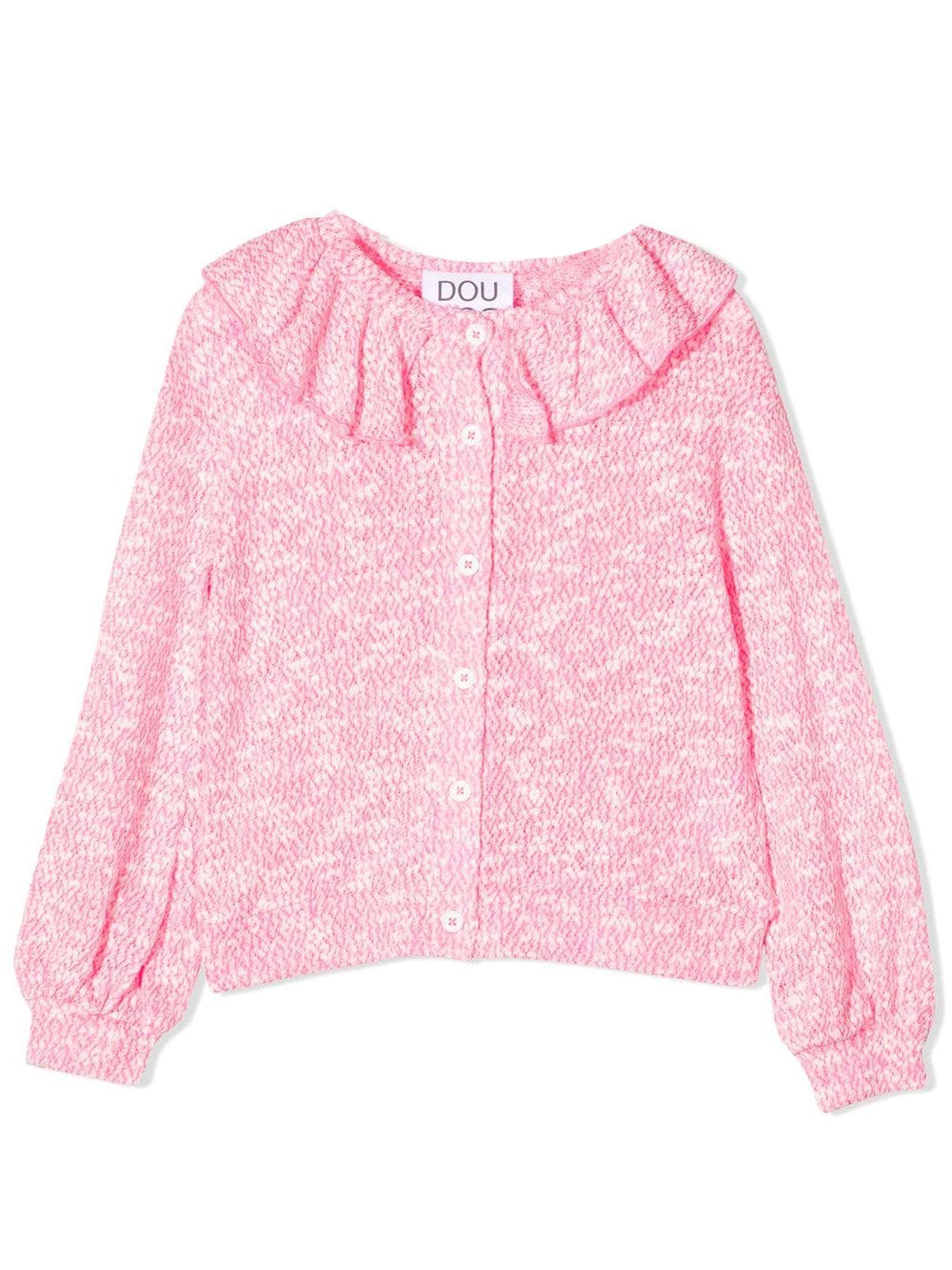 Rose-pink Cotton-blend Blouse