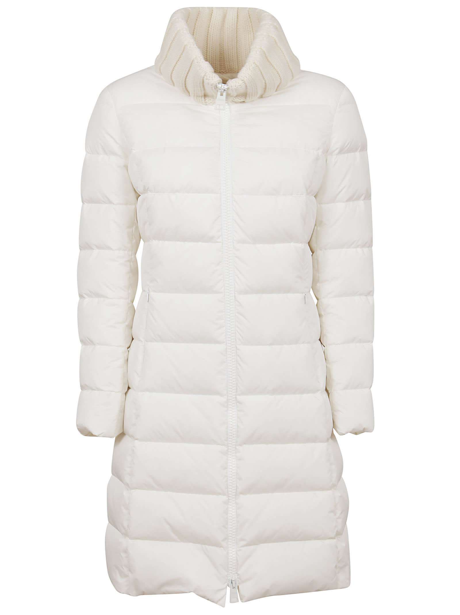 Photo of  White Technical Fabric Padded Coat- shop Herno jackets online sales