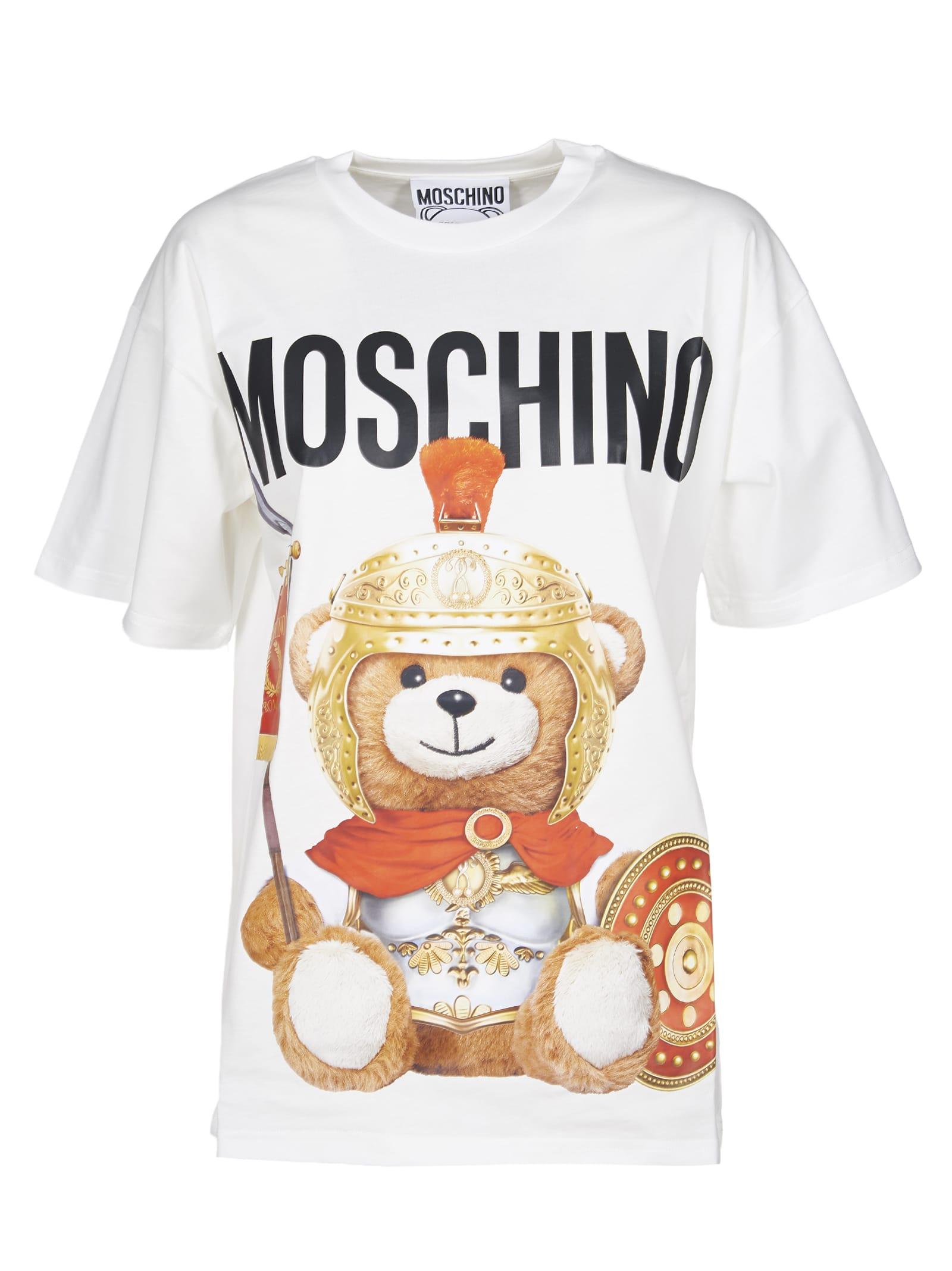 In liquidazione fabbrica classico Moschino Moschino Roman Teddy Bear T-shirt - White - 11061894 ...