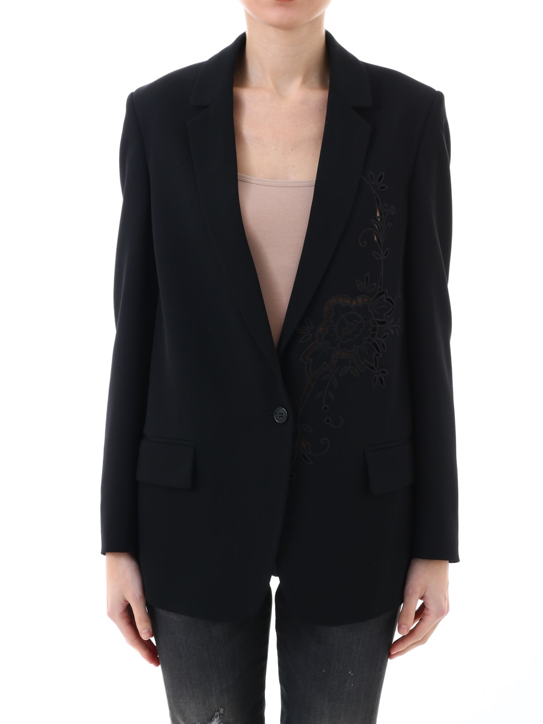 Stella McCartney Jacket Macramè Black