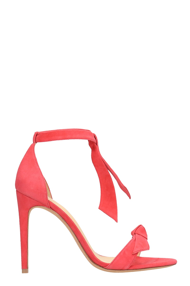 novel style multiple colors brand quality Alexandre Birman Red Coral Suede Leather Sandals