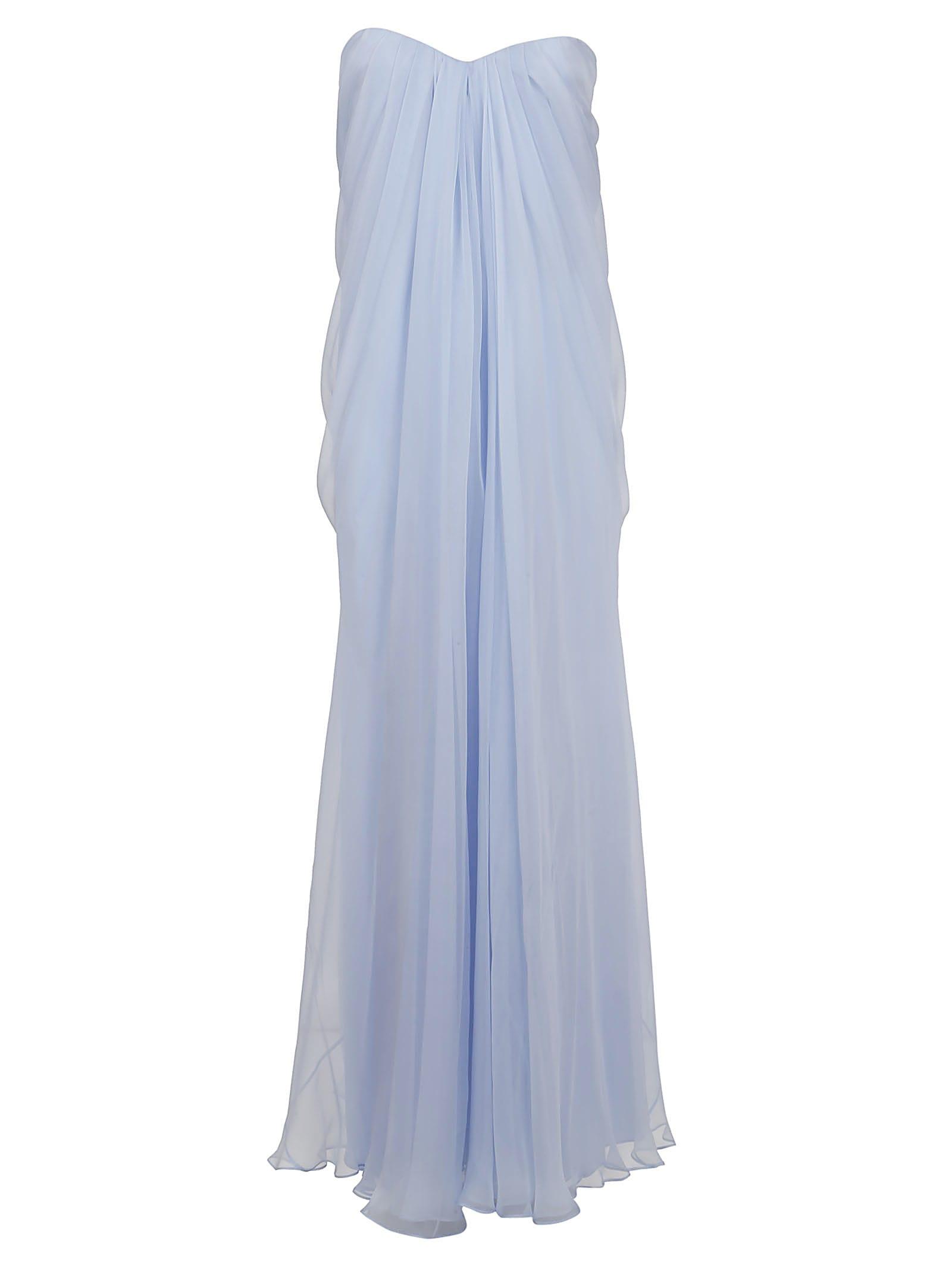 Buy Alexander McQueen Draped Bustier Maxi Dress online, shop Alexander McQueen with free shipping