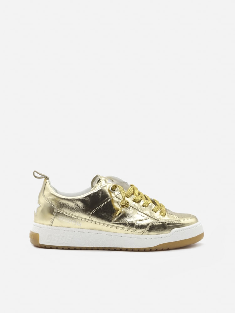 Golden Goose Yeah Sneakers In Laminated Effect Leather
