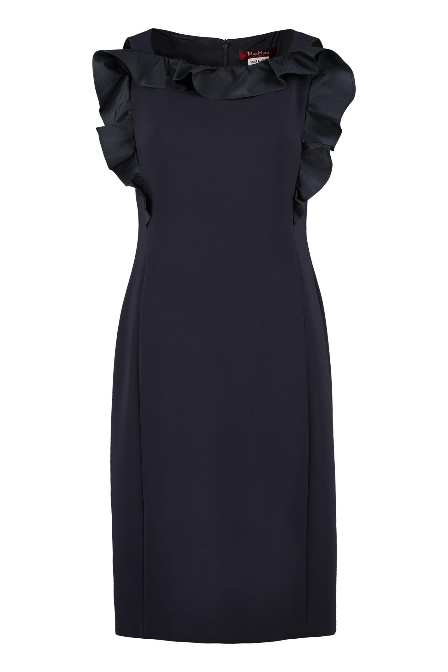 Buy Max Mara Studio Lastra Ruffled Sheath Dress online, shop Max Mara Studio with free shipping