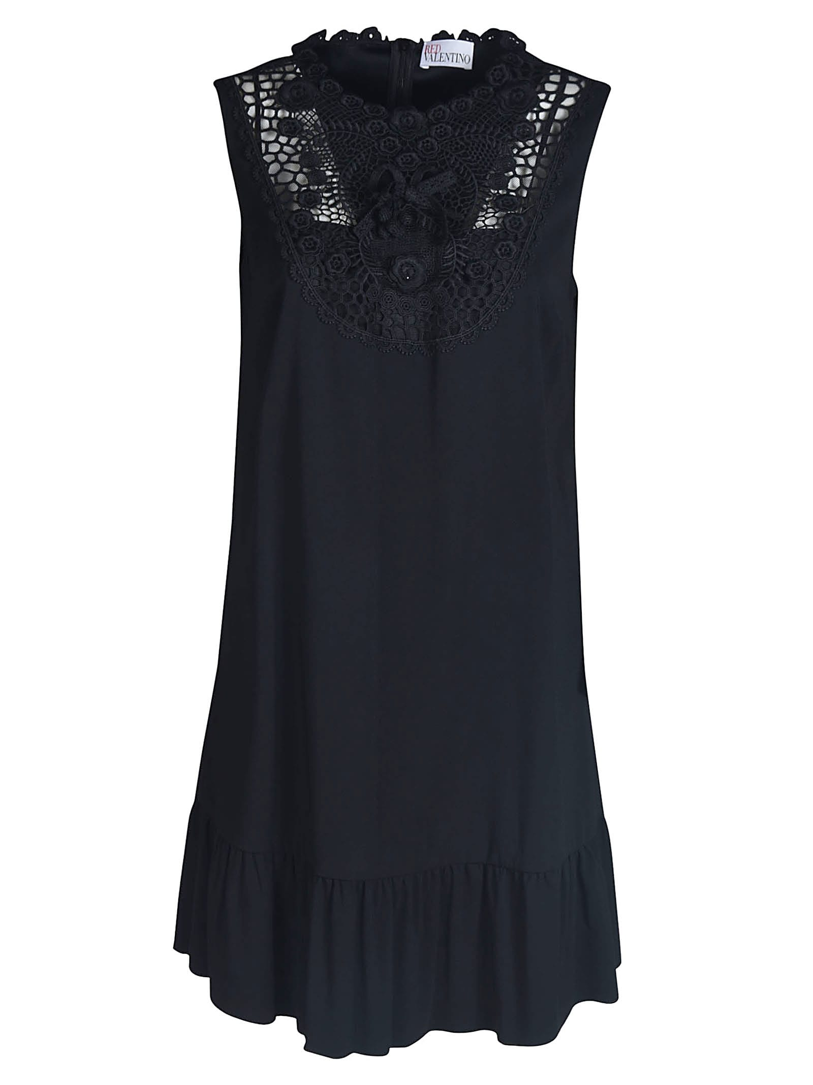 RED Valentino Short Length Floral Lace Dress
