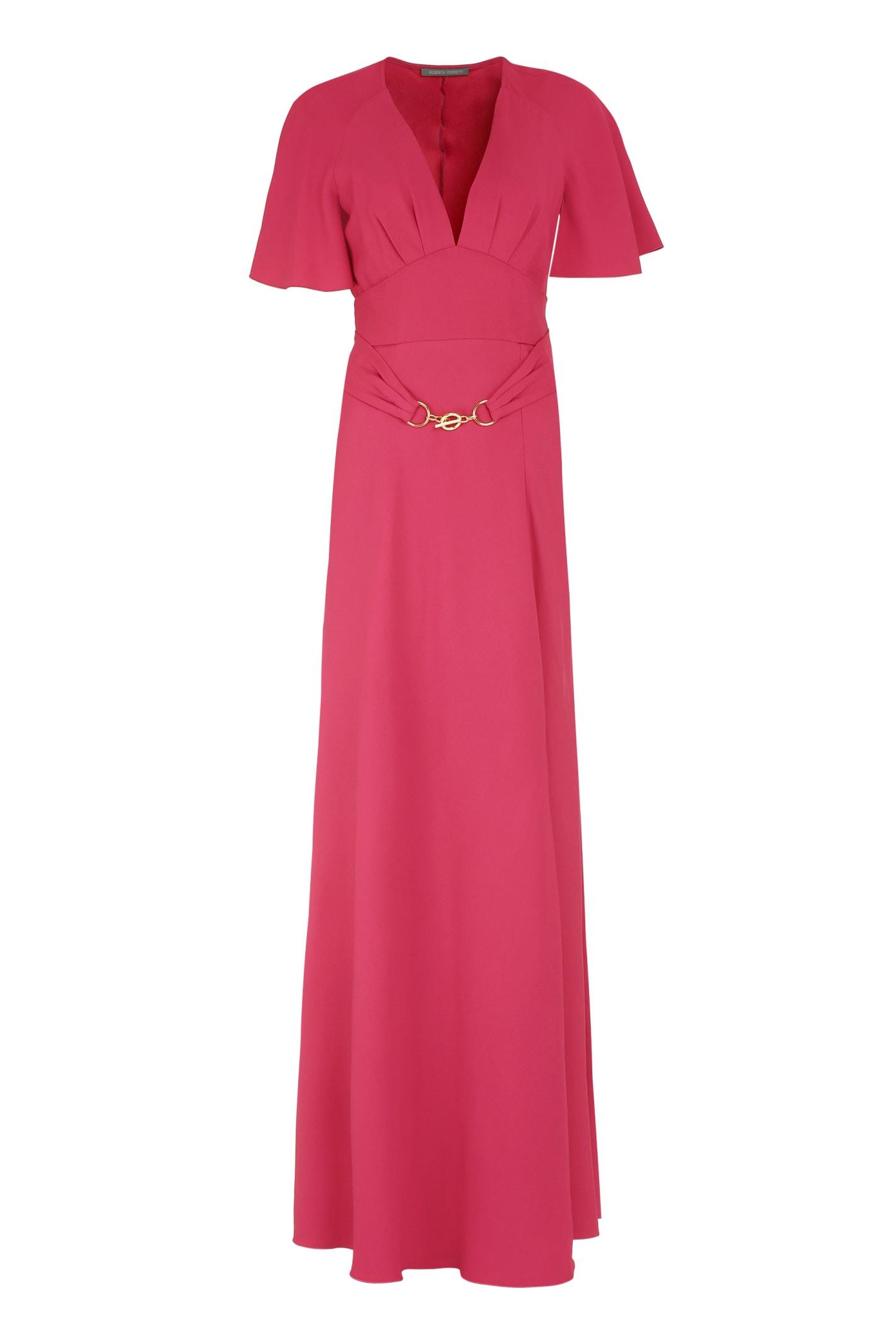 Buy Alberta Ferretti Crêpe Envers Satin Dress online, shop Alberta Ferretti with free shipping