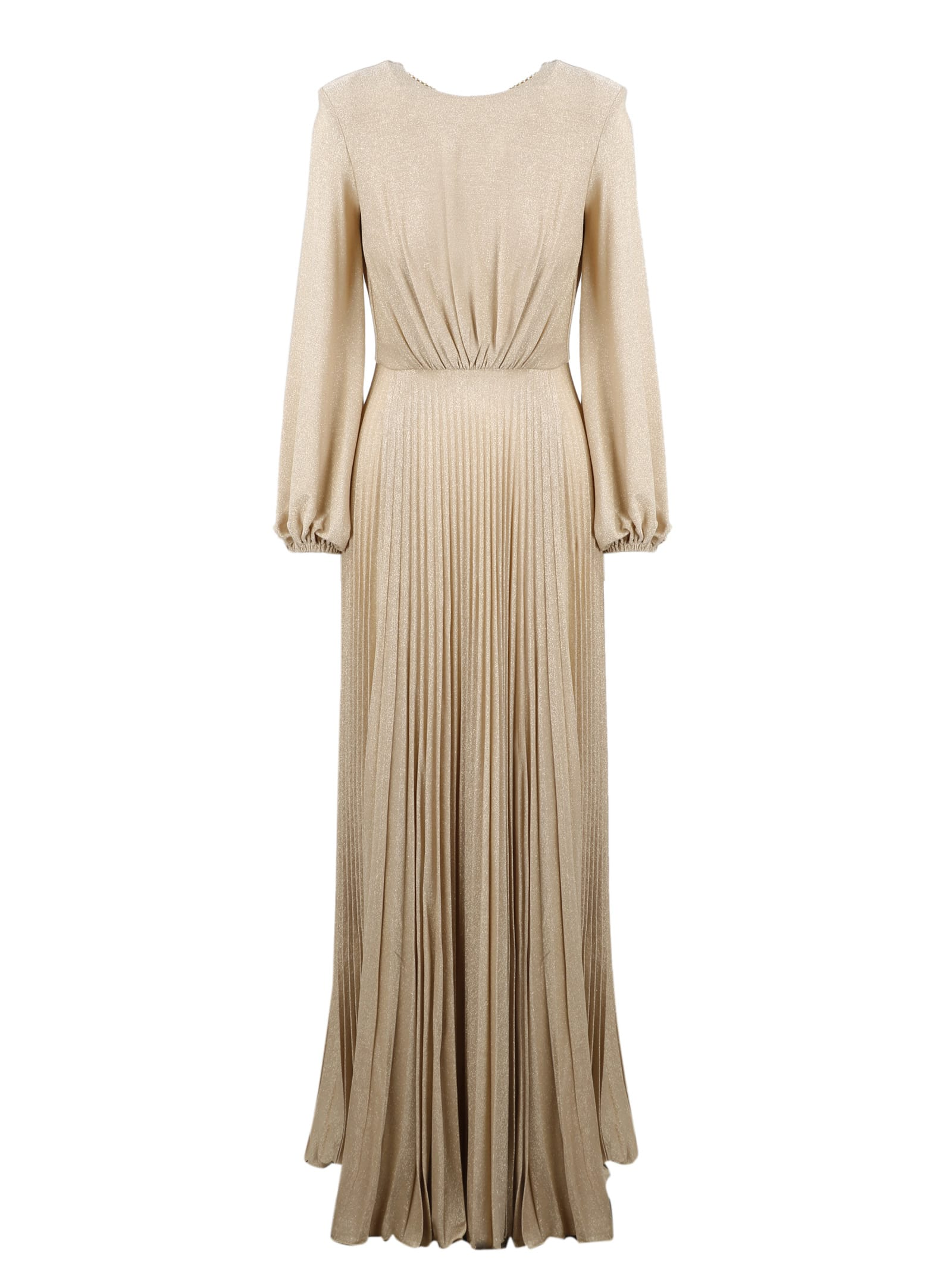Buy Elisabetta Franchi Chain and Charms Long Dress online, shop Elisabetta Franchi with free shipping