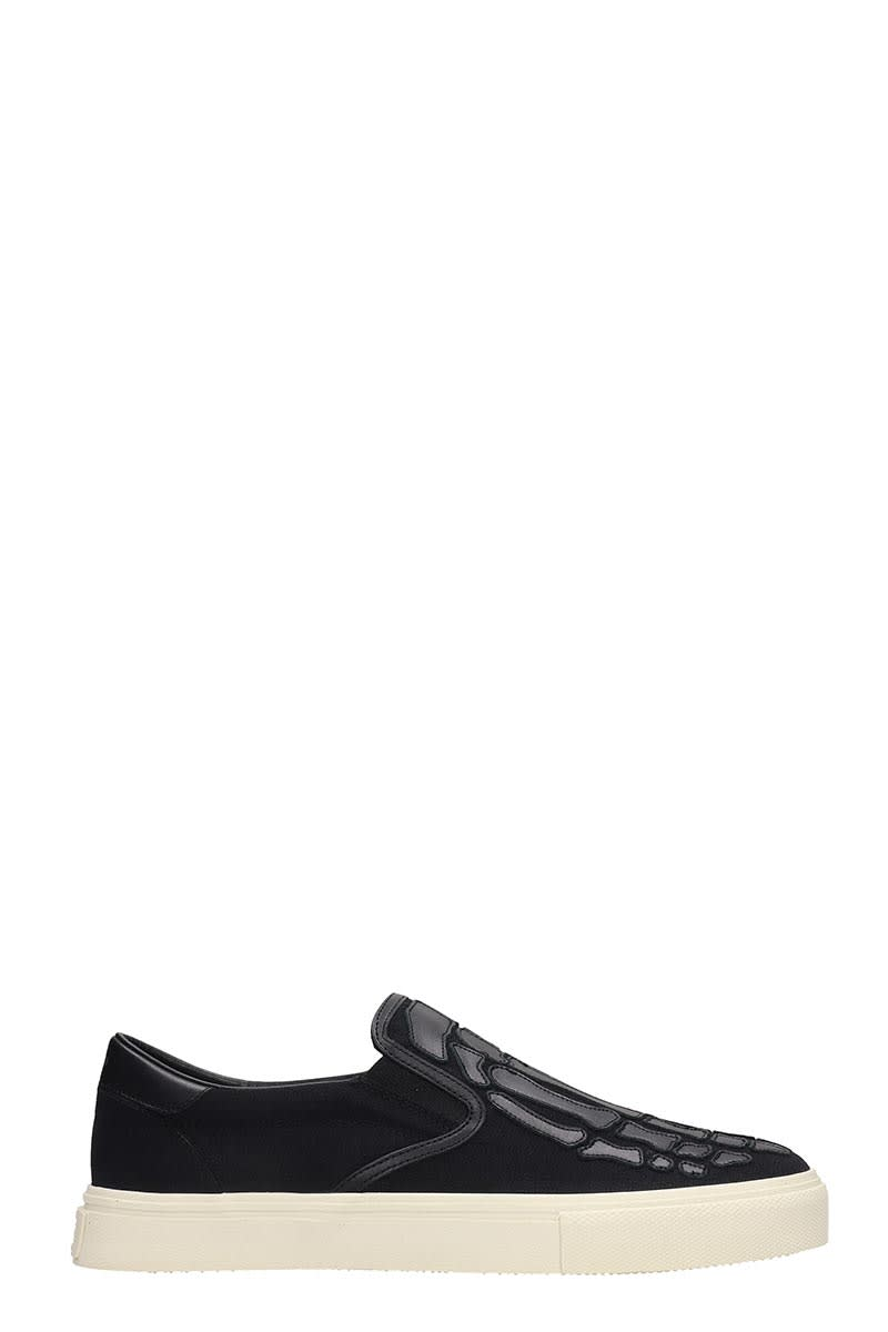 Amiri Suedes SNEAKERS IN BLACK CANVAS