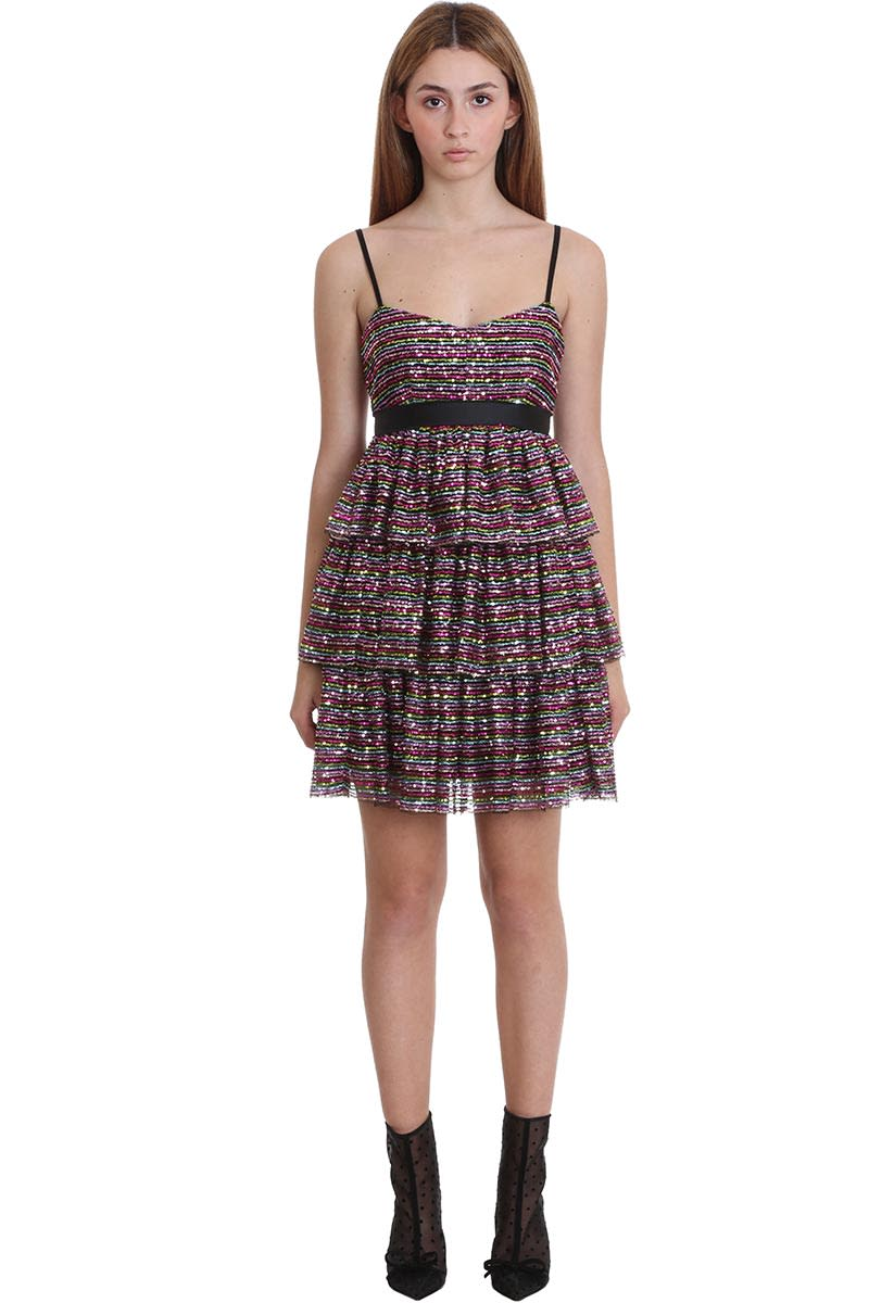 Buy RED Valentino Dress In Black Tech/synthetic online, shop RED Valentino with free shipping