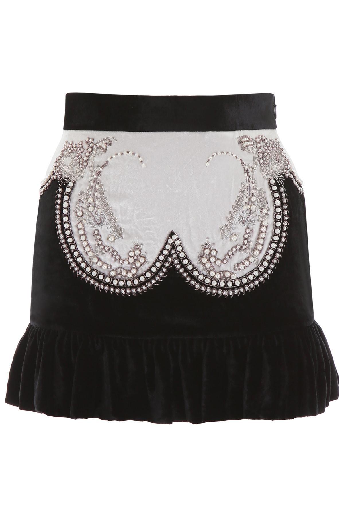 WANDERING Velvet Mini Skirt