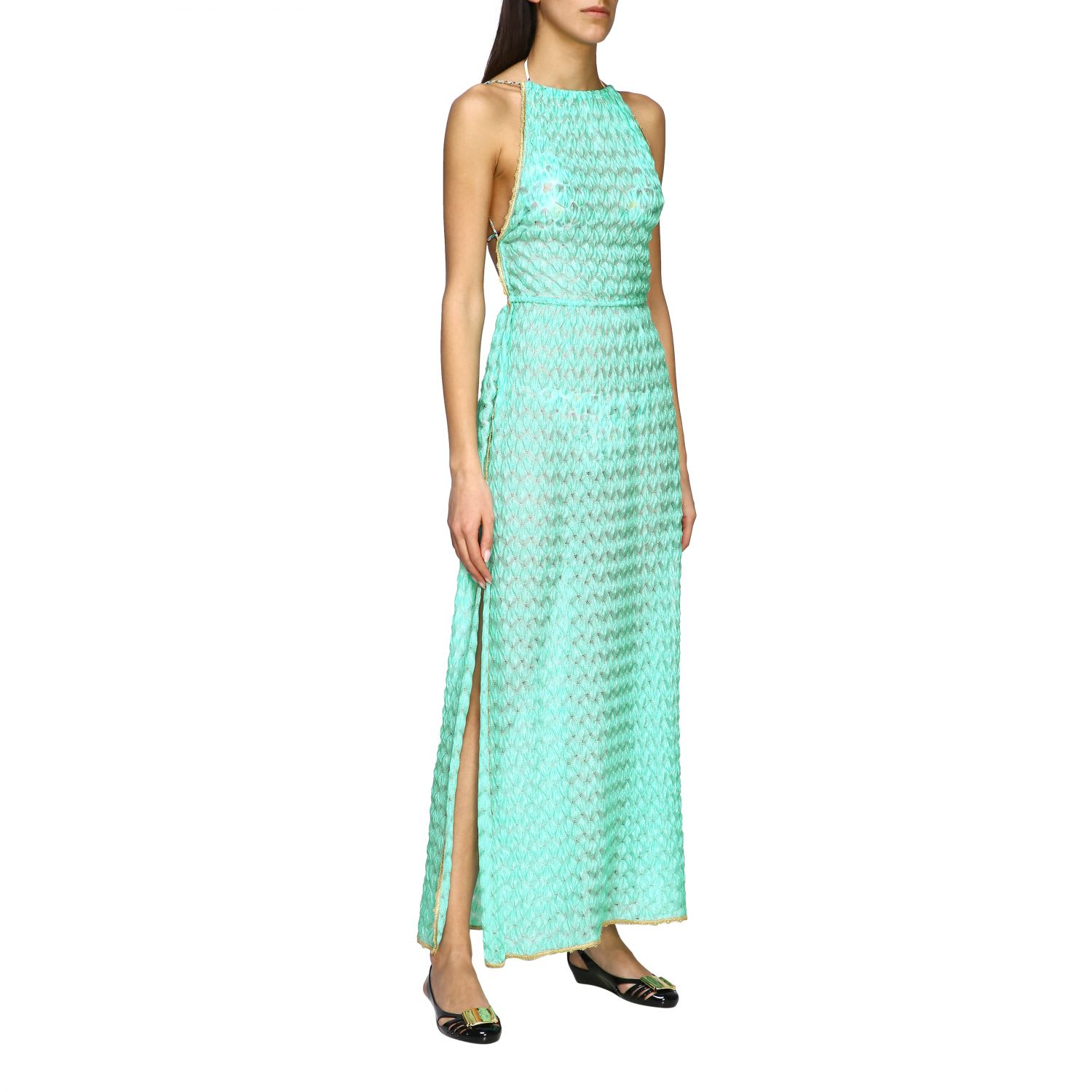 Buy Missoni Mare Tunic Missoni Mare Maxi Dress With American Neckline online, shop Missoni with free shipping
