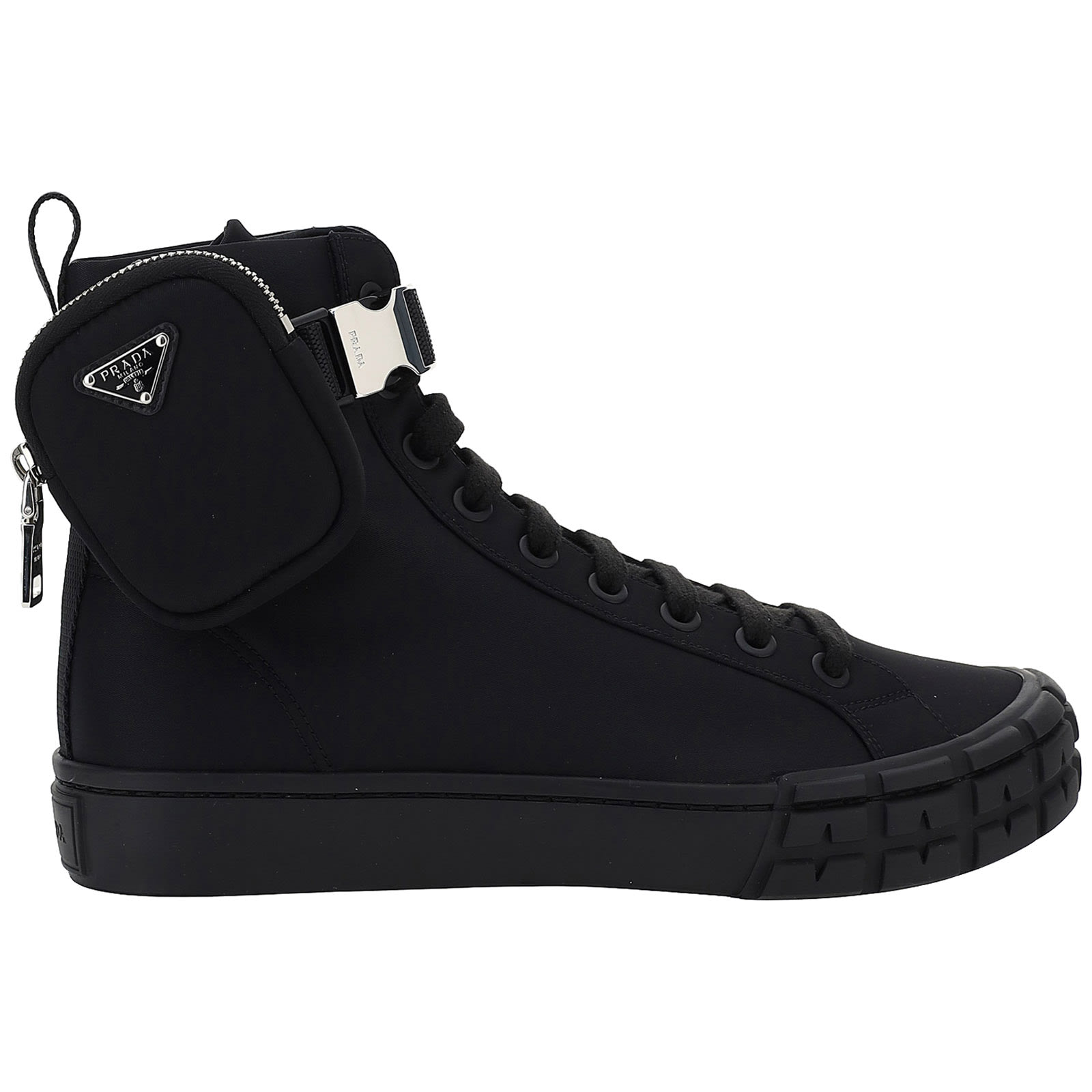 Prada HIGH-TOP WHEEL HIGH-TOP SNEAKERS