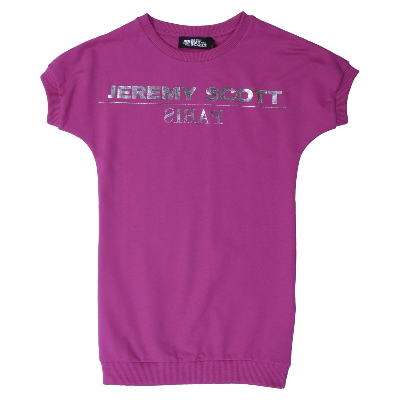 Jeremy Scott Fuchsia Cotton Dress