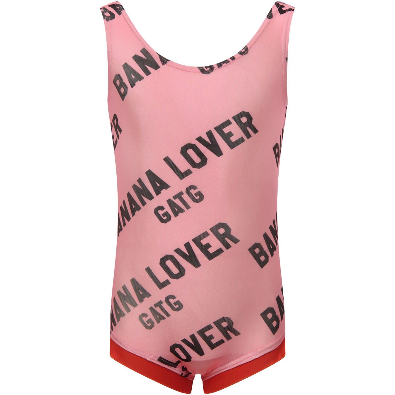 Pink banana Lover Swimsuit For Girl