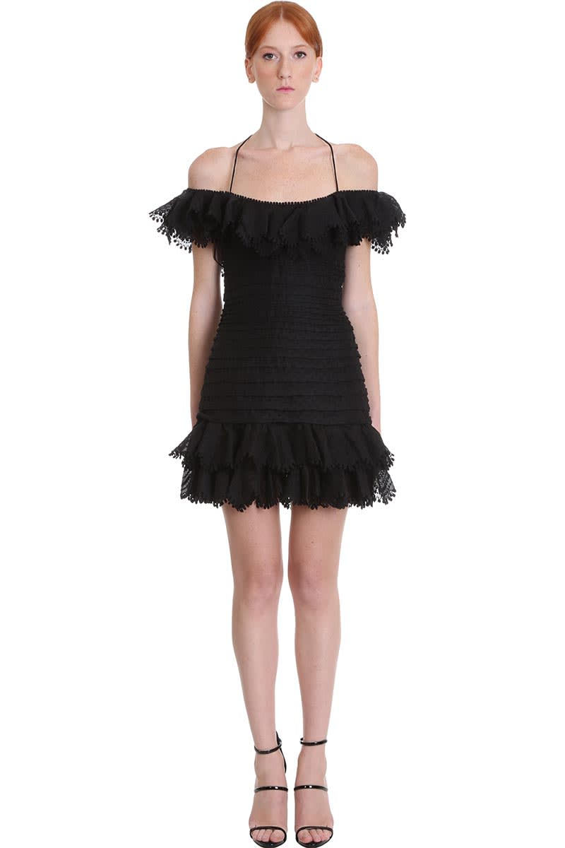 Buy Zimmermann Dress In Black Polyester online, shop Zimmermann with free shipping