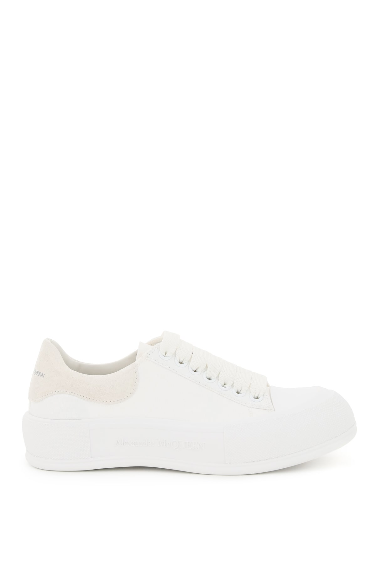 Buy Alexander McQueen Canvas Skate Sneakers online, shop Alexander McQueen shoes with free shipping