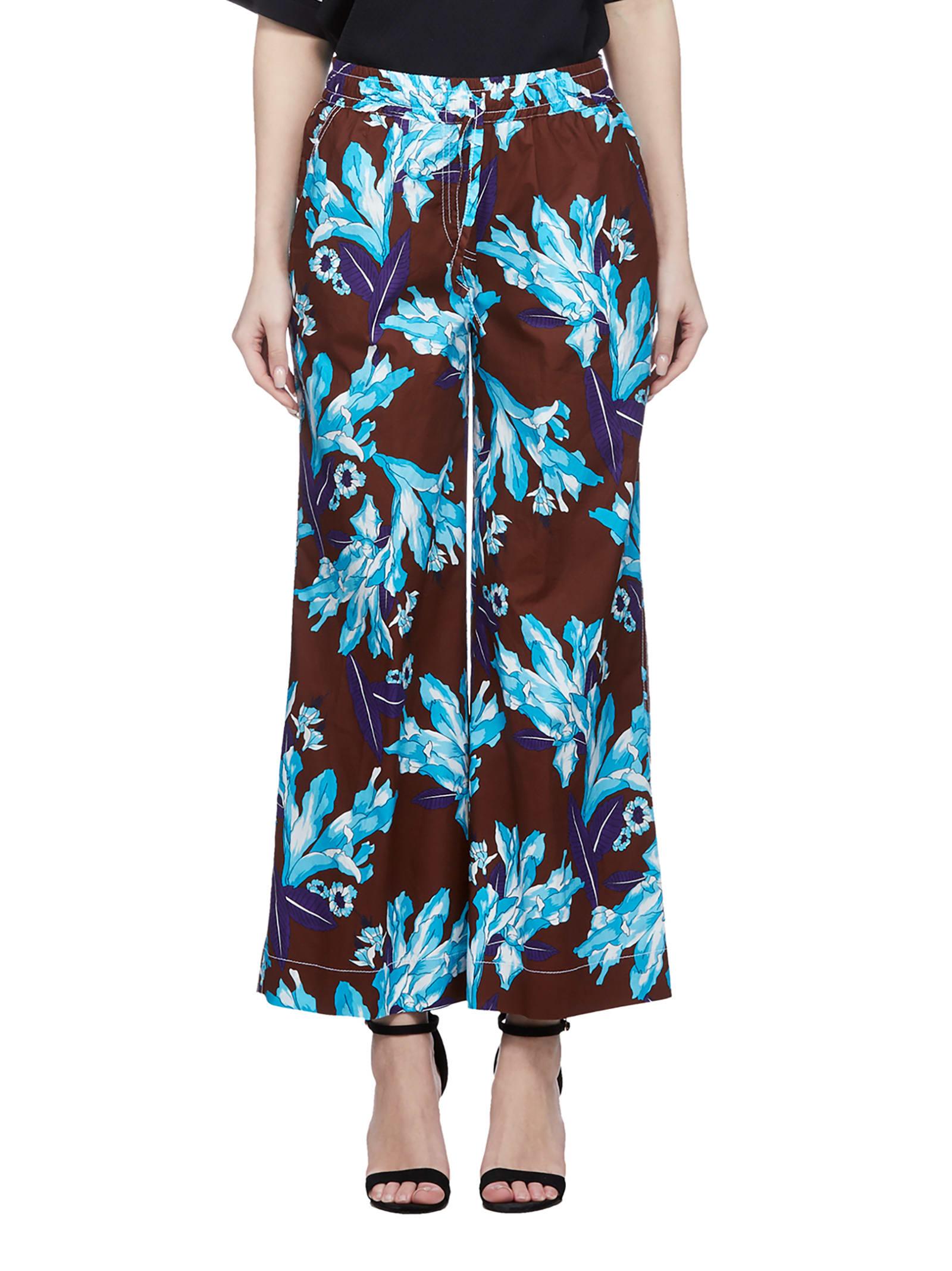Parosh Floral Print Trousers