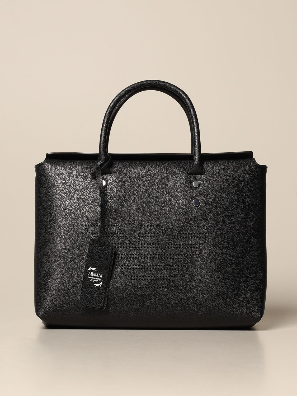 Emporio Armani Shoulder Bag Emporio Armani Bag With Perforated Logo