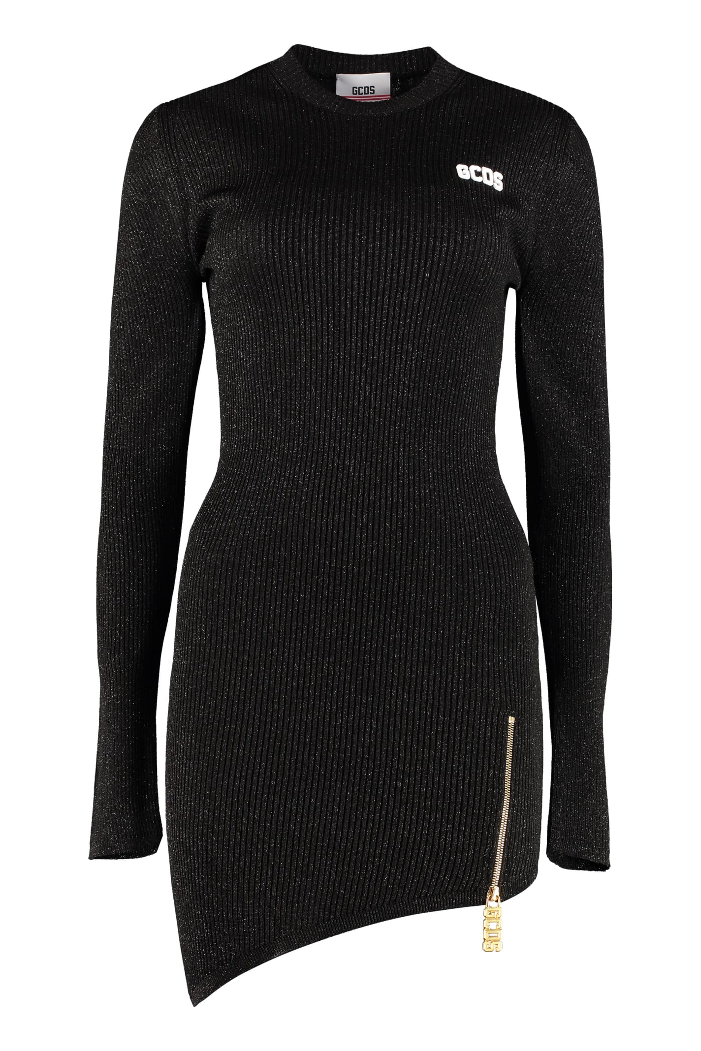 GCDS Knitted Asymmetric Dress