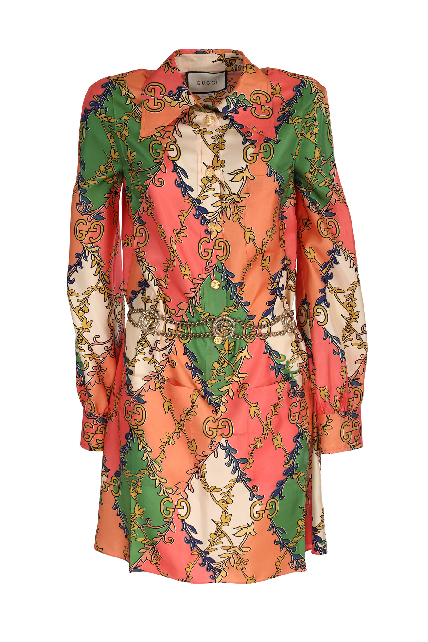 Buy Silk Twill Dress online, shop Gucci with free shipping