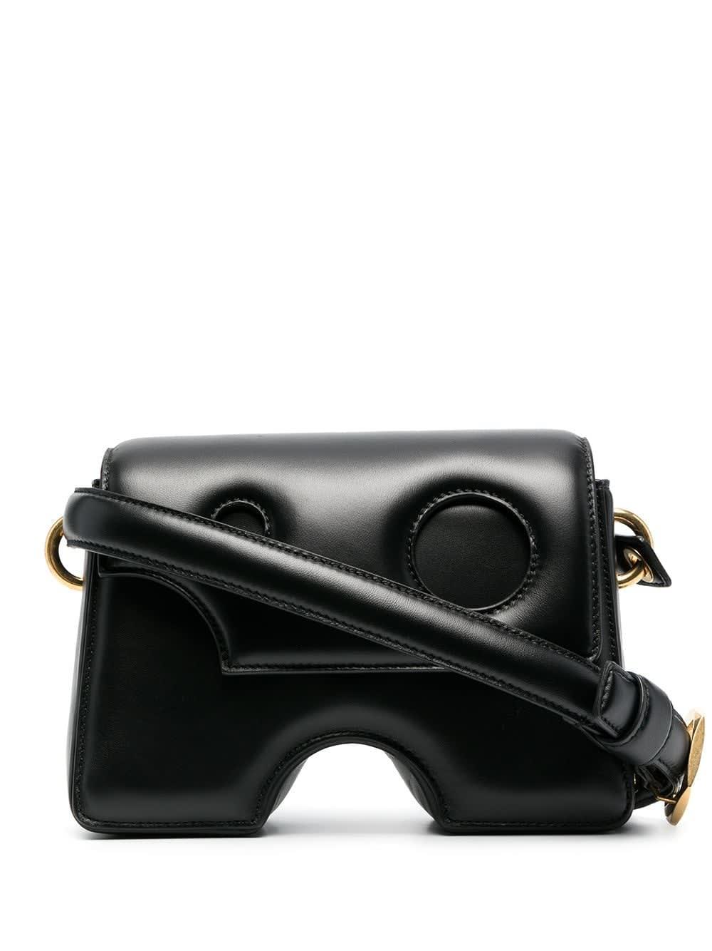 Off-White Leathers BLACK BURROW-22 SHOULDER BAG
