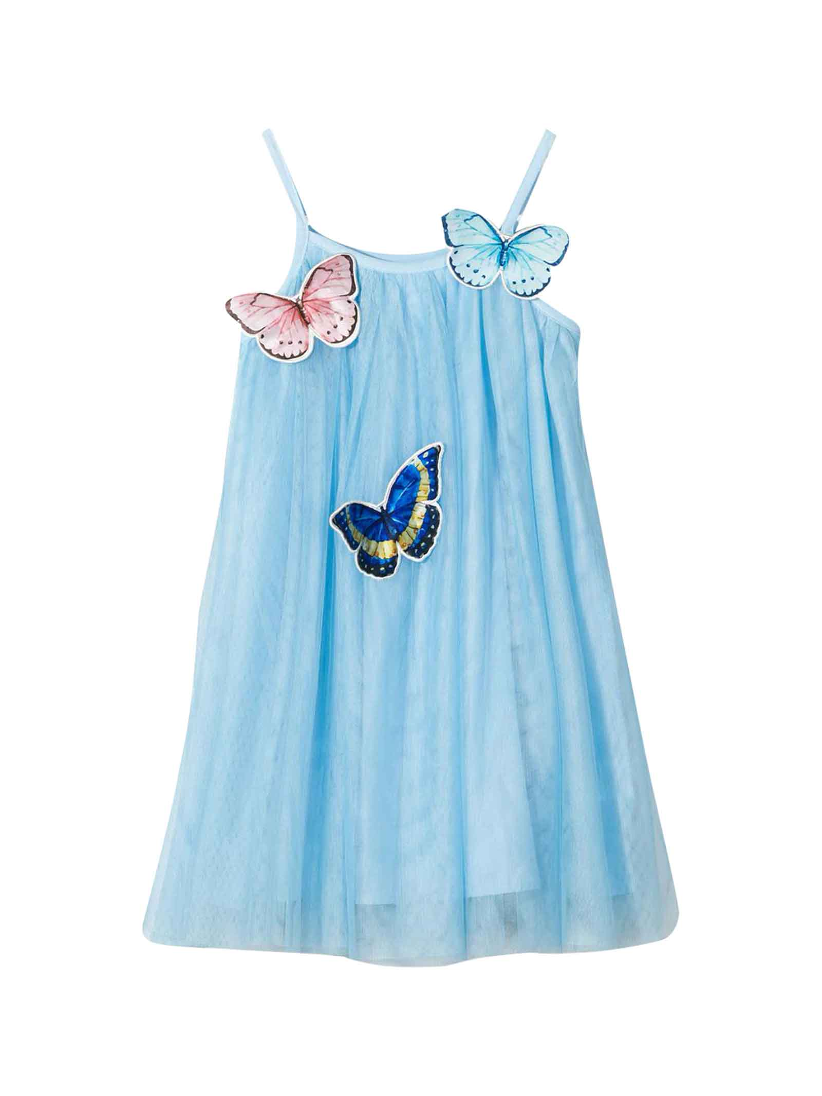 Buy Charabia Kids Light Blue Dress online, shop Charabia with free shipping
