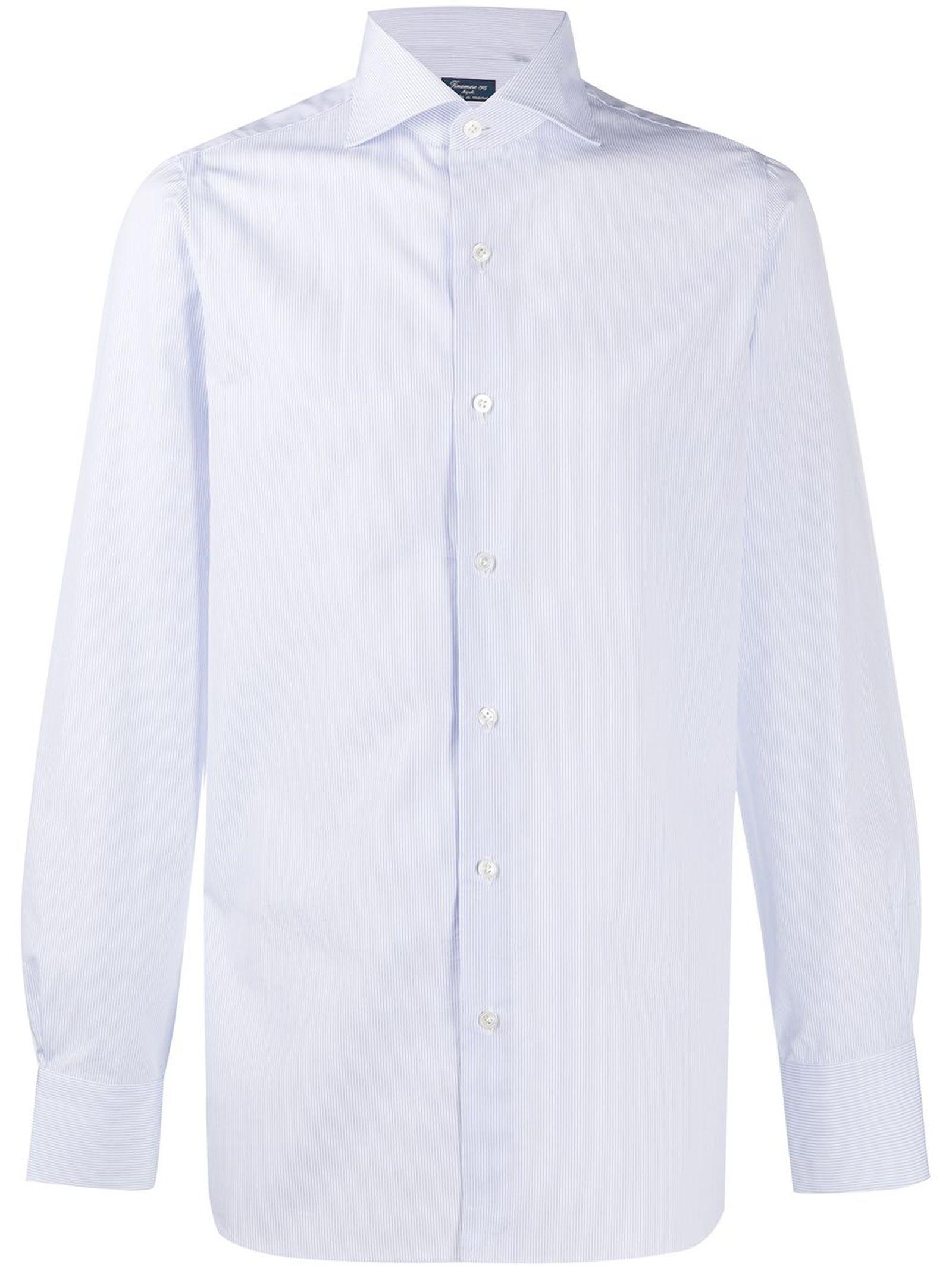 Light Blue Cotton Striped Shirt