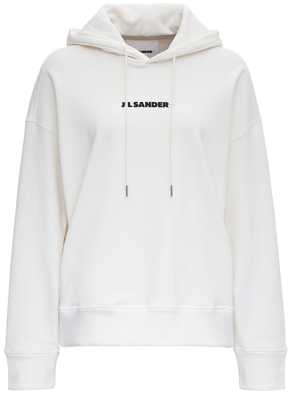 Jil Sander SWEATERSHIRT W/HOOD LS IN ORGANIC COTTON FRENCH TERRY