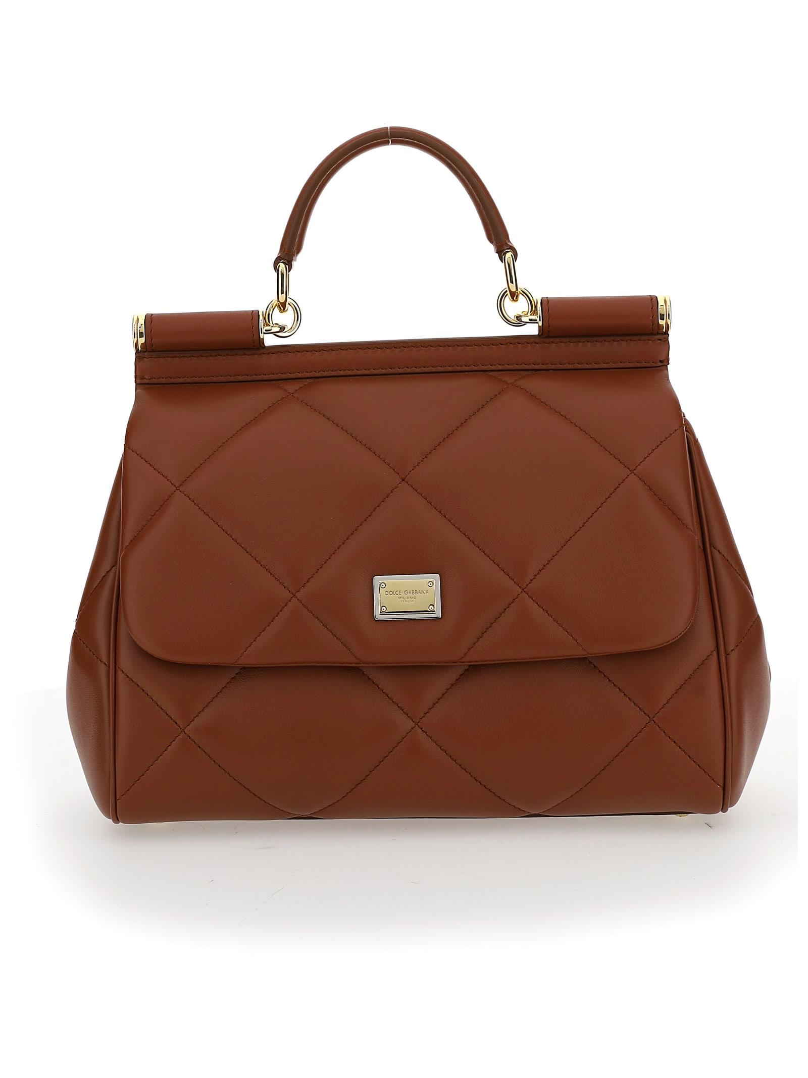 Dolce & Gabbana Dolce&gabbana Handbag In Cognac