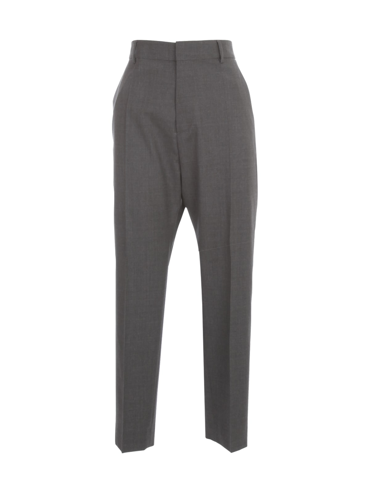 Dsquared2 HIGH WAISTED TROPICAL WOOL STRECH PANTS