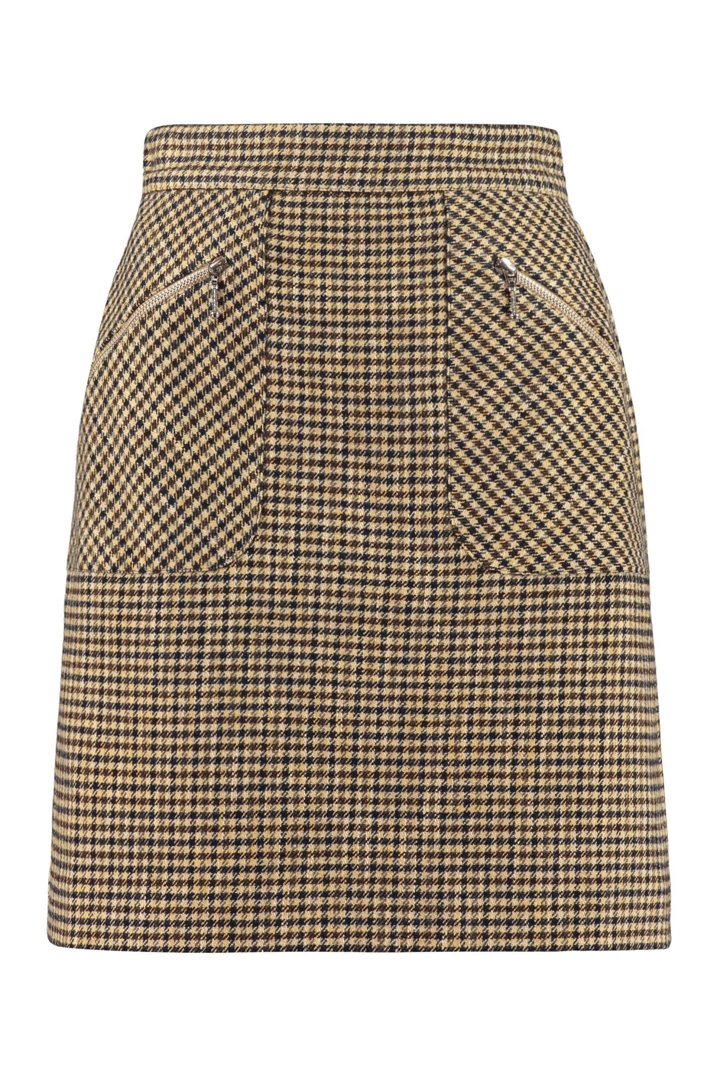 Checked Mini-skirt
