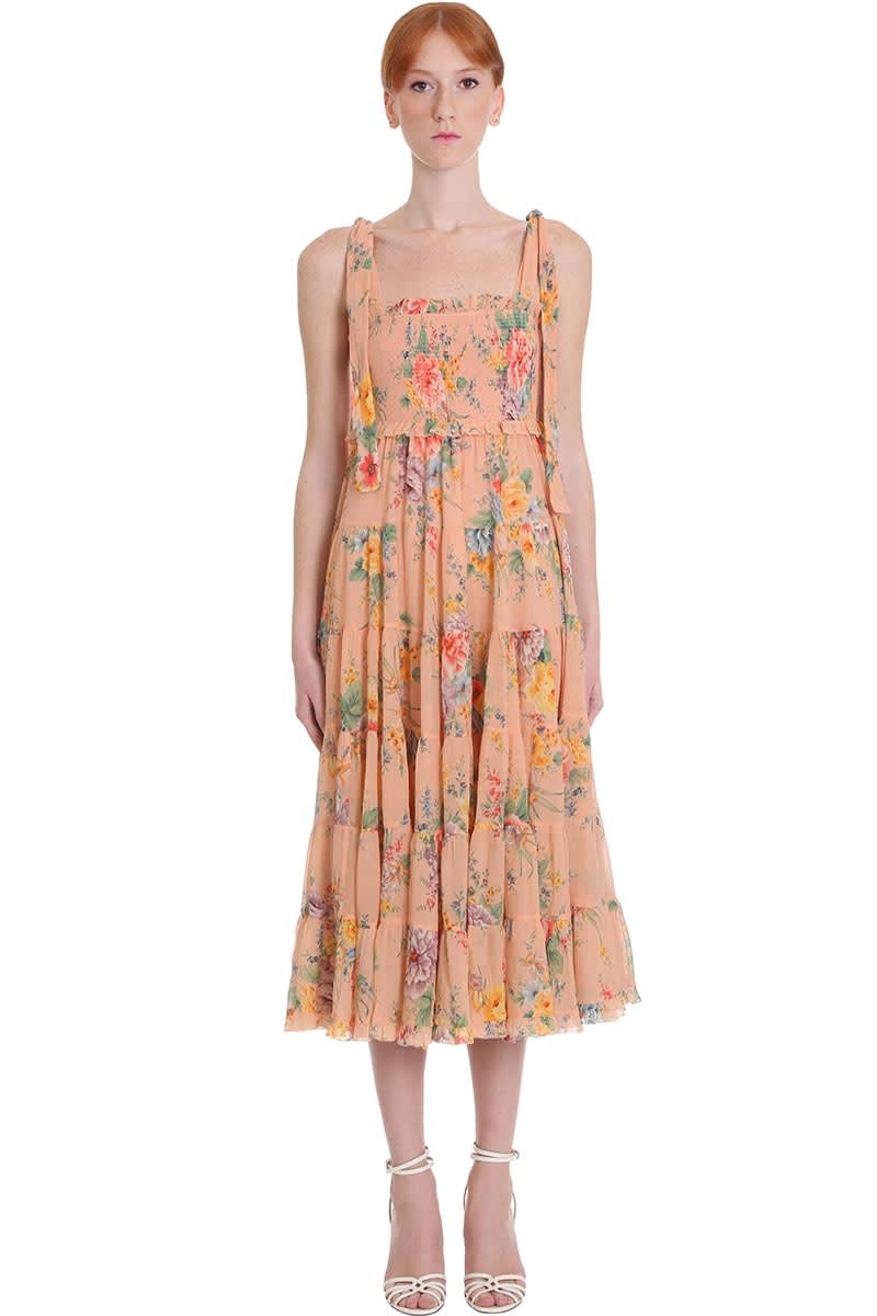 Buy Zimmermann Zinnia Dress In Rose-pink Silk online, shop Zimmermann with free shipping