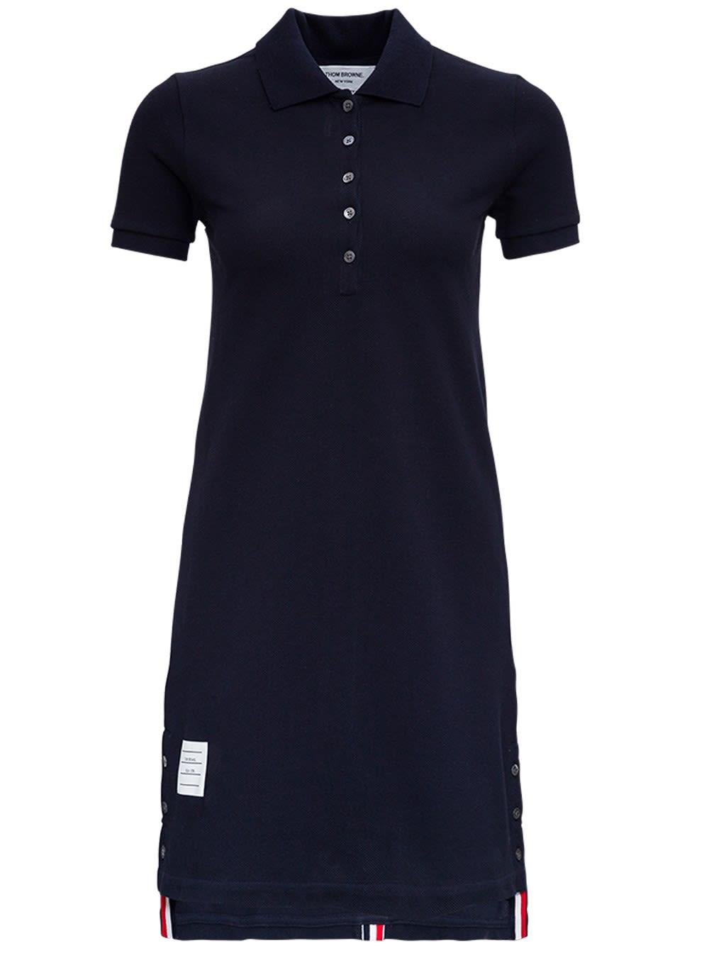 Thom Browne Dresses BLUE FLARED COTTON DRESS