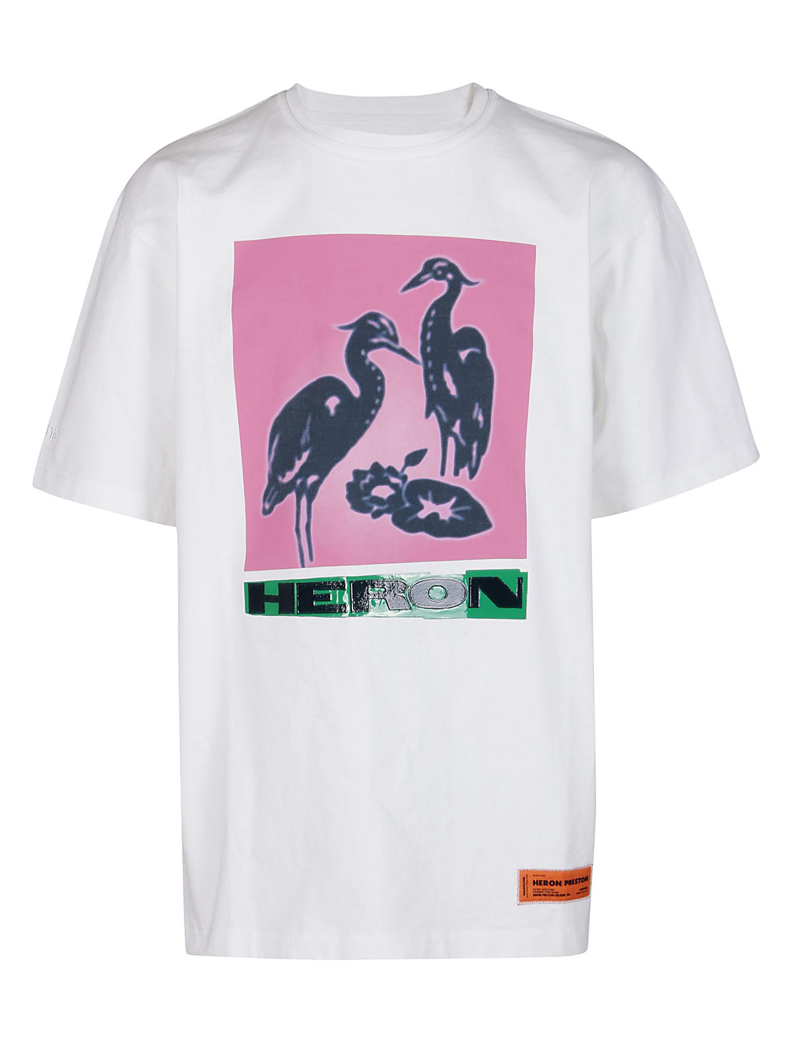 Heron Preston Cottons WHITE COTTON T-SHIRT