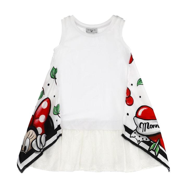 Buy Monnalisa Cherry Print Foulard Jersey Dress online, shop Monnalisa with free shipping