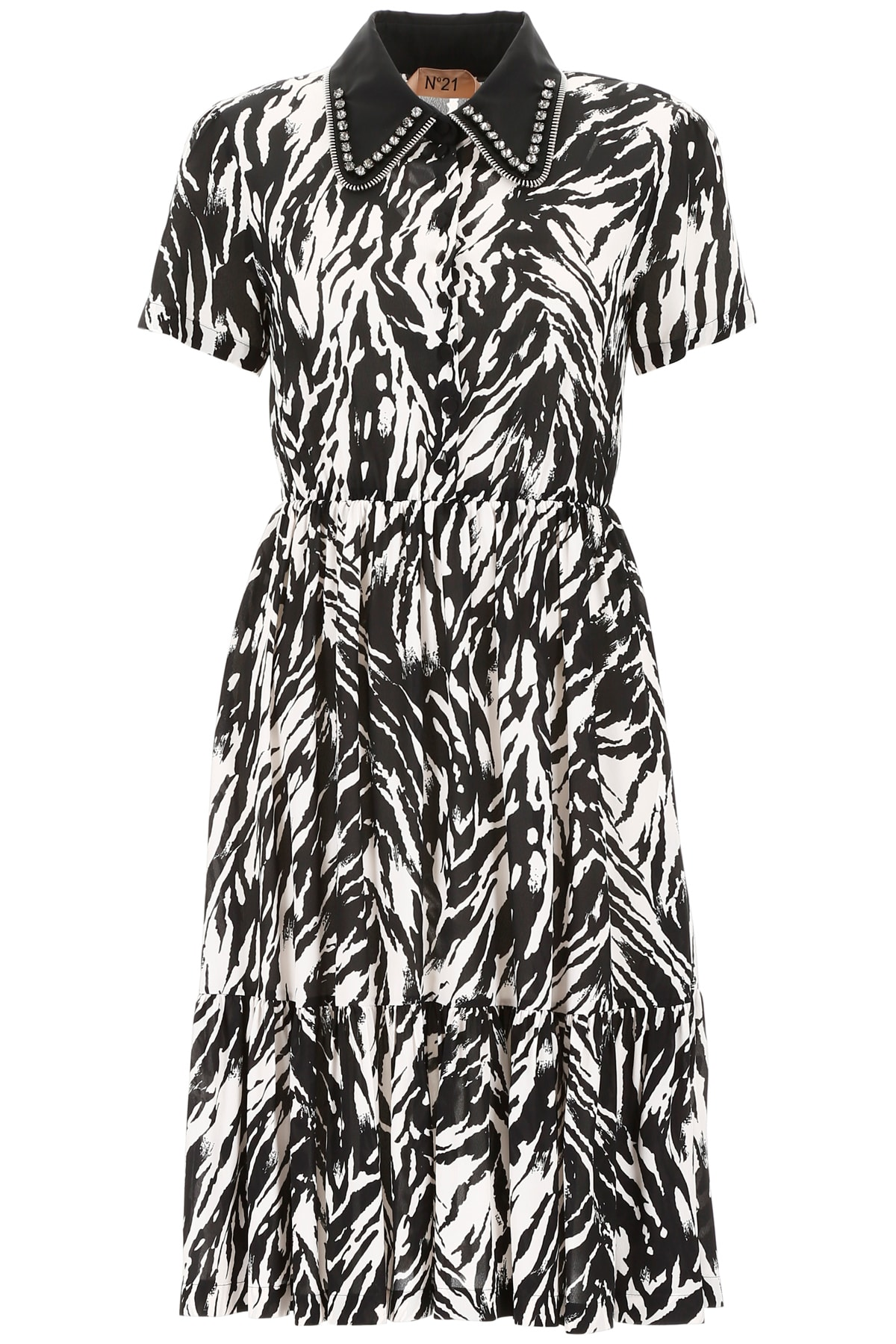 N.21 Zebra Dress With Crystals
