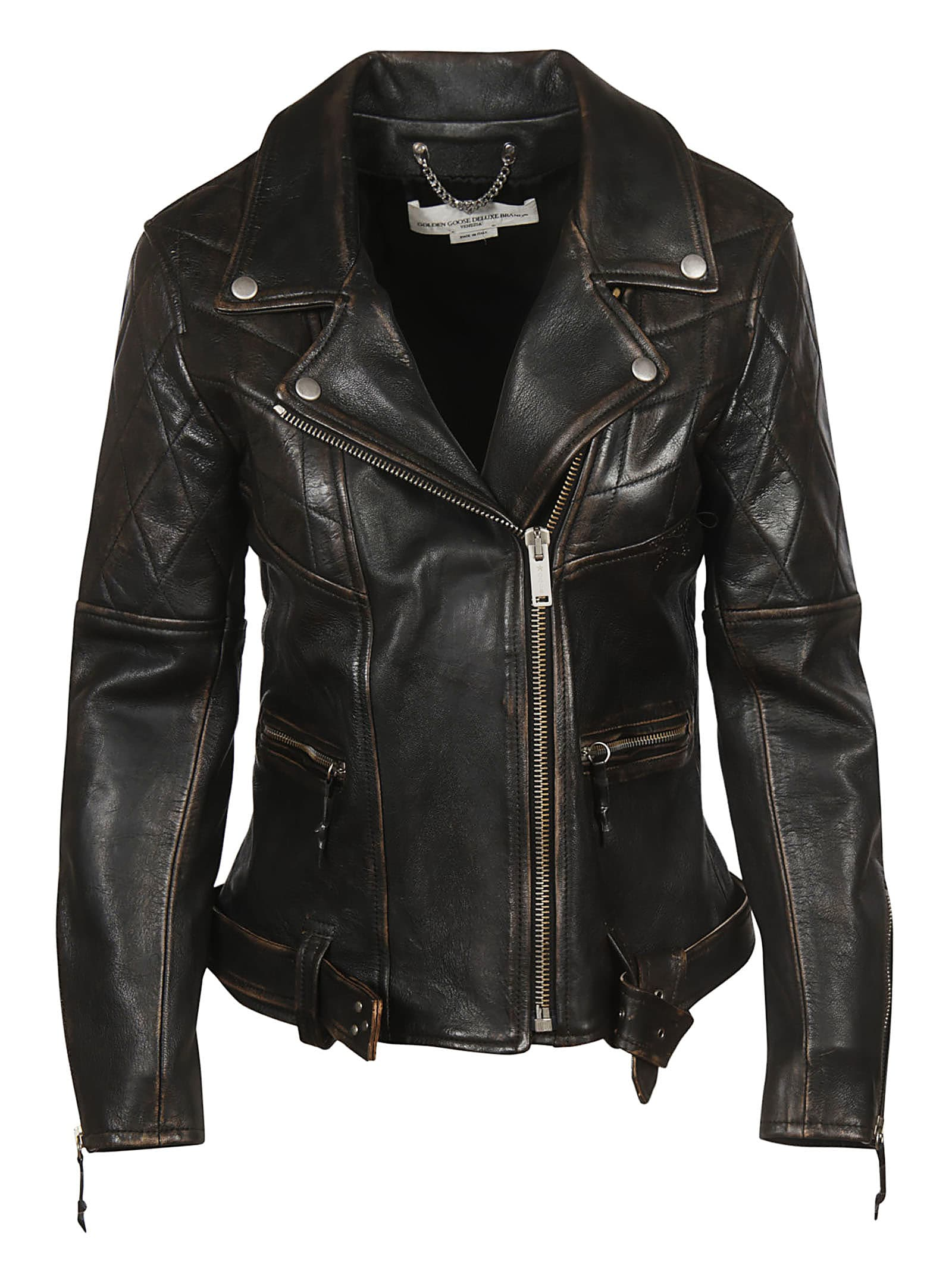 Golden Goose Zip-up Biker Jacket