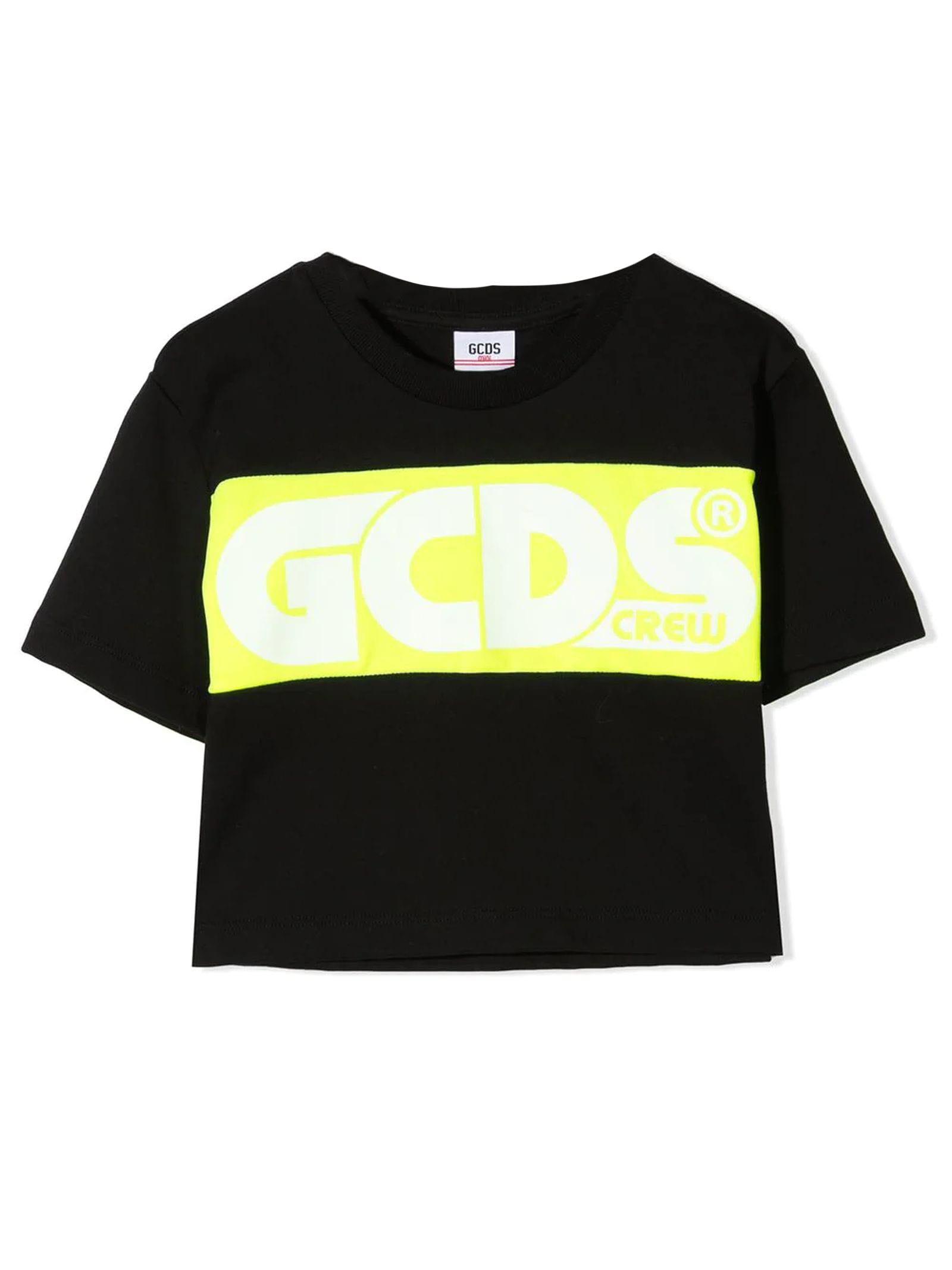 Gcds Cottons BLACK COTTON T-SHIRT