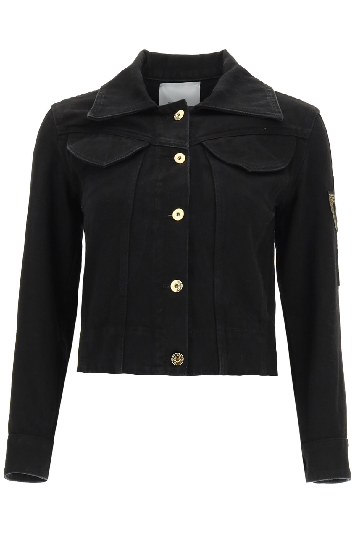 Patou JACKET IN ORGANIC DENIM WITH LOGO EMBROIDERY