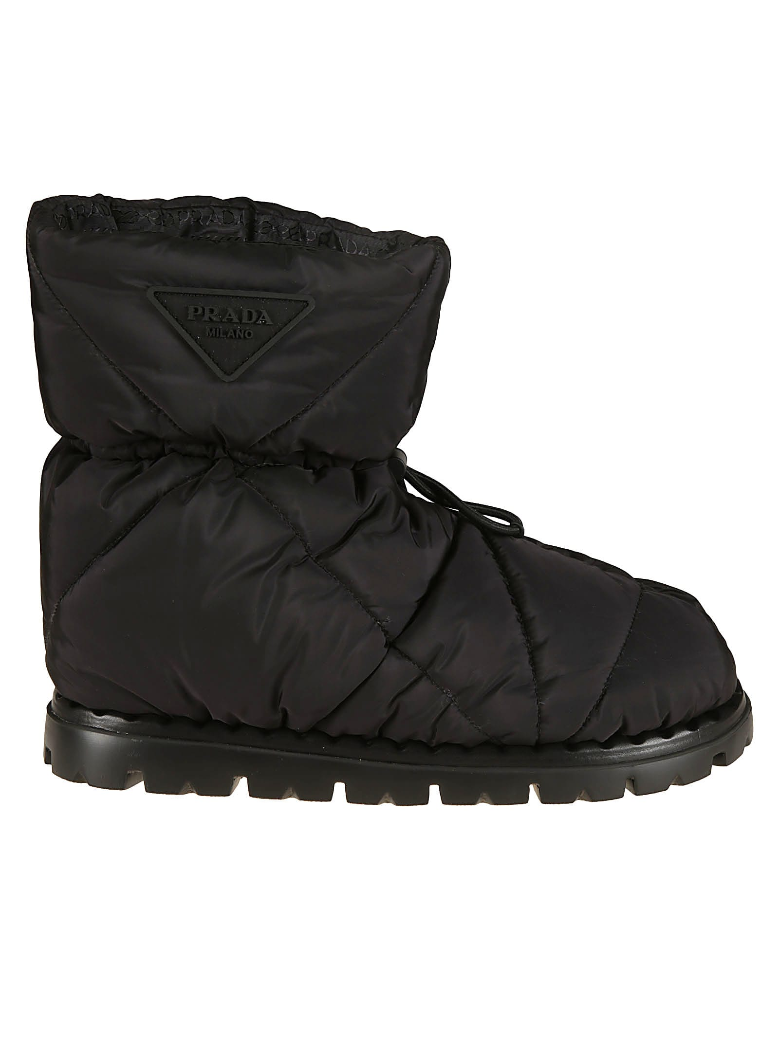 Buy Prada Quilted Logo Ankle Boots online, shop Prada shoes with free shipping