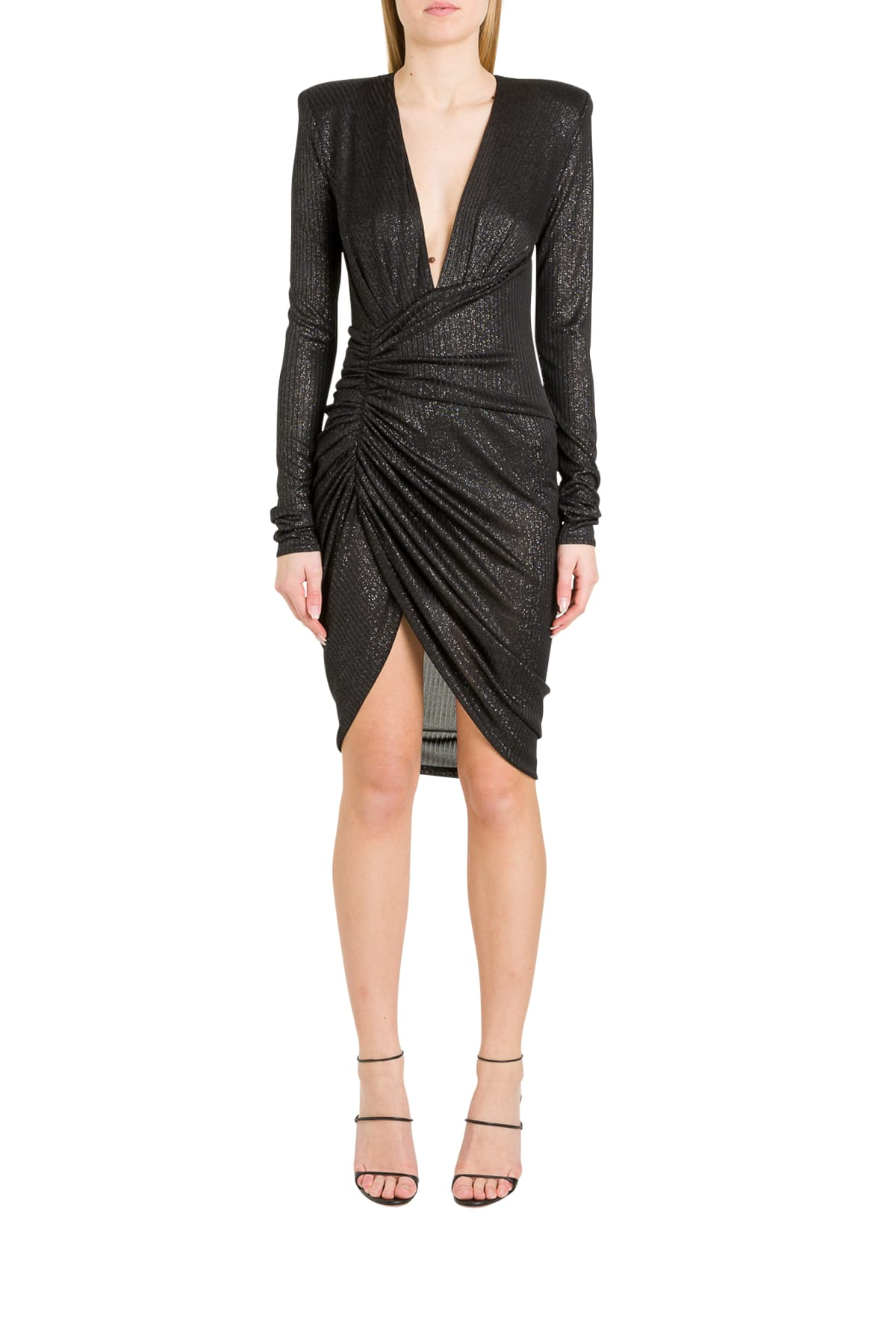 Buy Alexandre Vauthier Draped Lamé Mini Dress online, shop Alexandre Vauthier with free shipping
