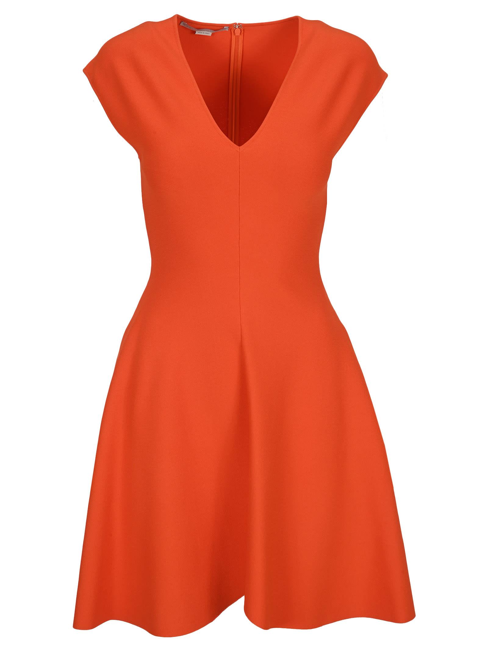 Buy Stella Mccartney Deep V-neck Mini Dress online, shop Stella McCartney with free shipping