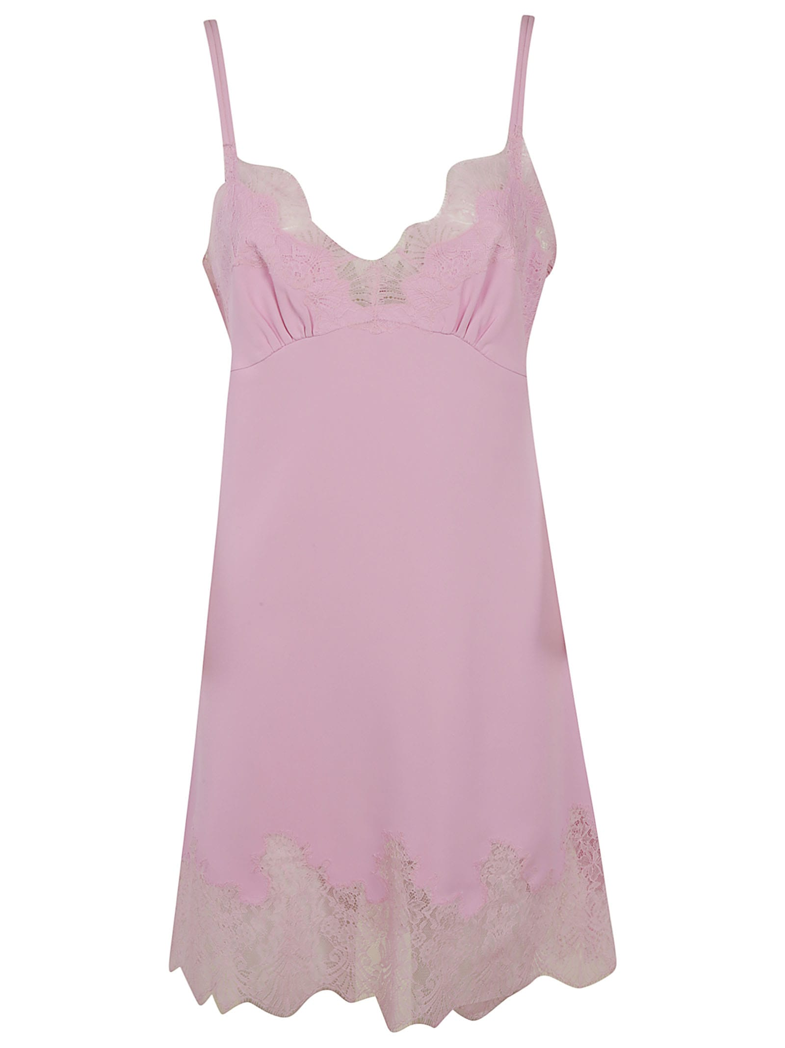 Buy Ermanno Scervino Sleeveless Laced Detail Dress online, shop Ermanno Scervino with free shipping