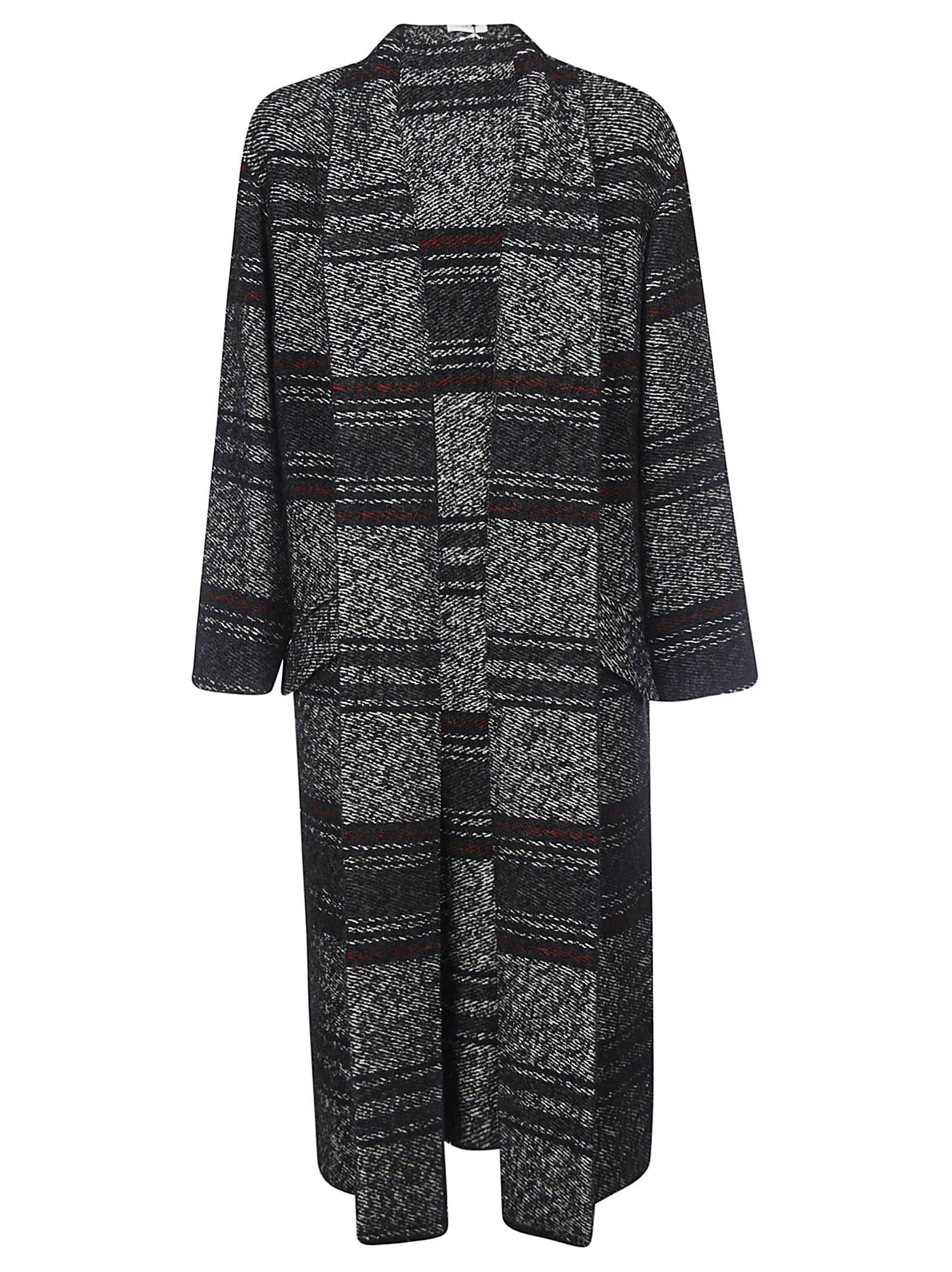 Isabel Marant Striped Long Open Coat