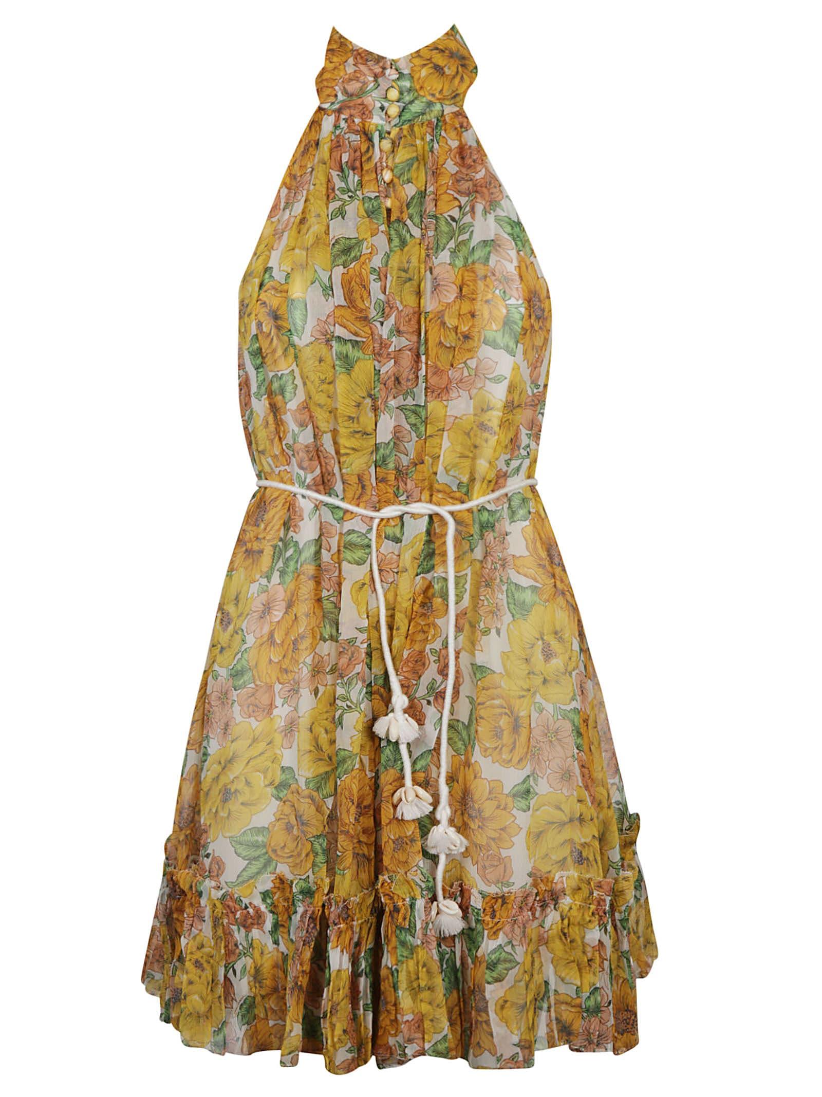Zimmermann Poppy Short Halter Dress